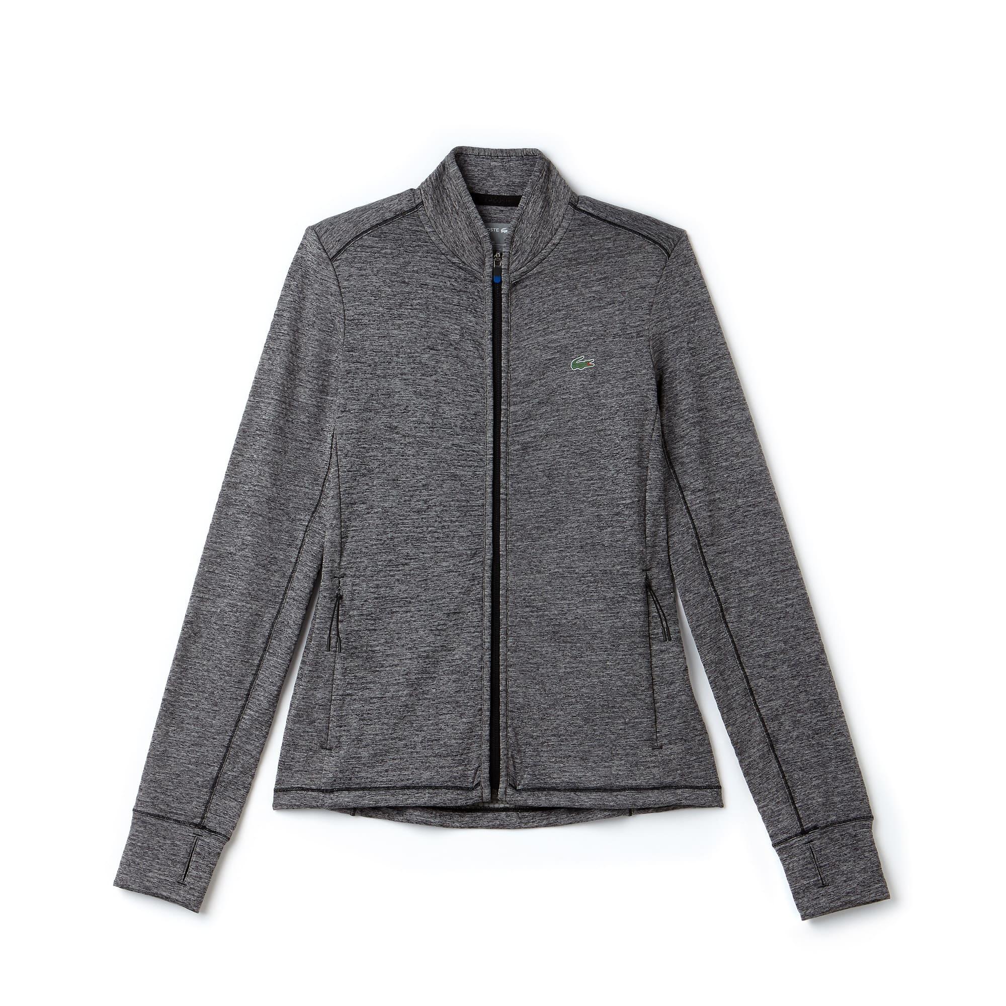 라코스테 Lacoste Womens SPORT Technical Midlayer Zip Golf Sweatshirt,roche chine/black-blue ro