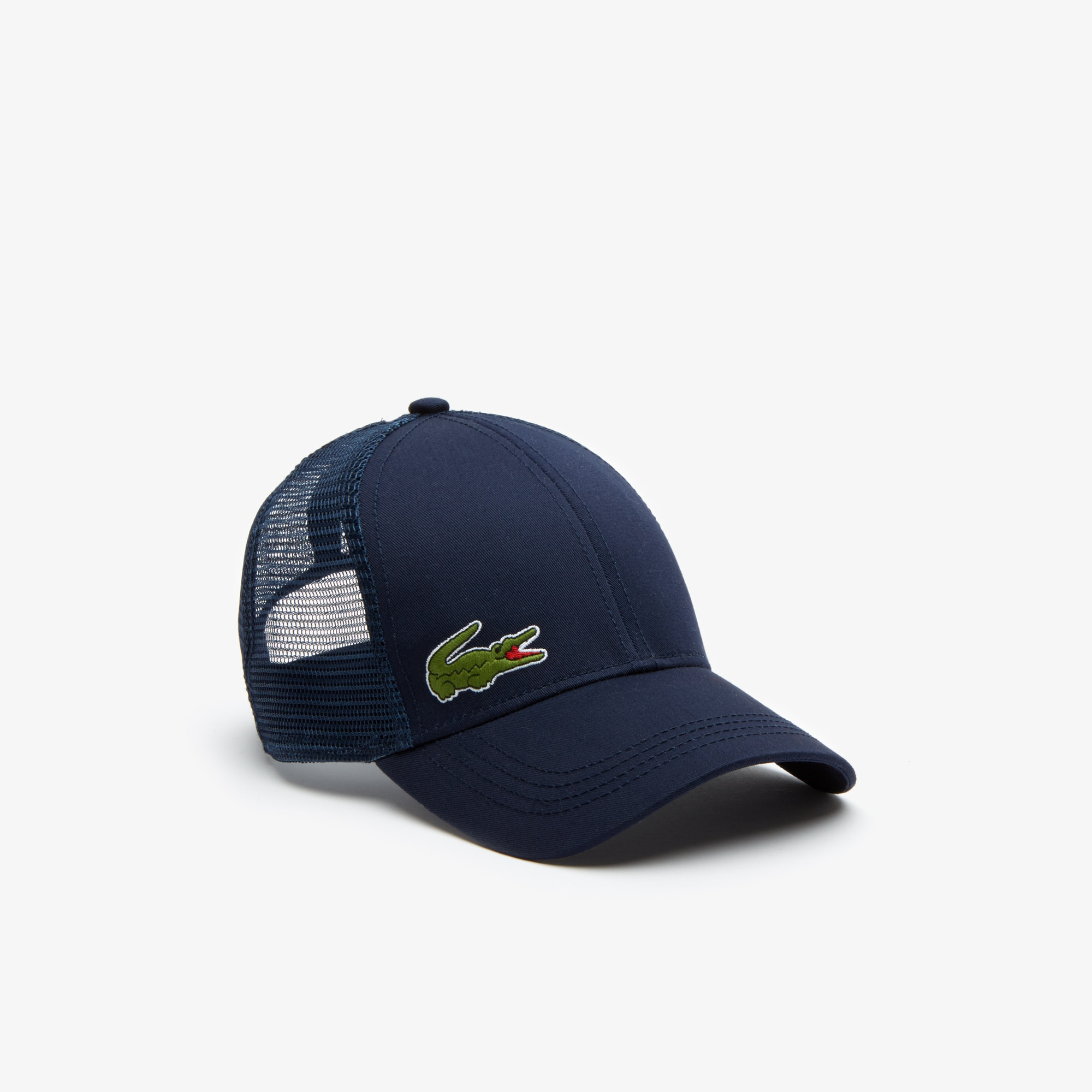 라코스테 Lacoste Mens SPORT Gabardine And Mesh Tennis Cap,navy blue
