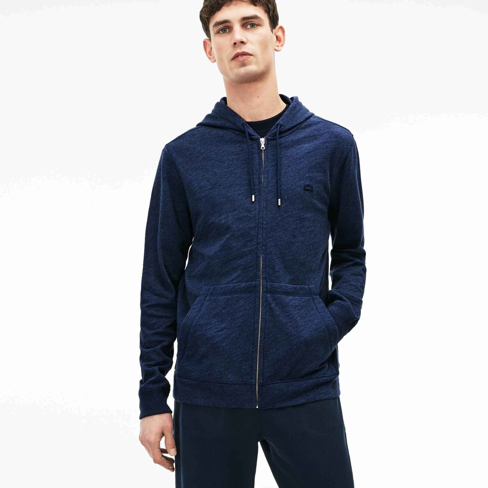 Men's MOTION Hooded Cotton Fleece Zip Sweatshirt