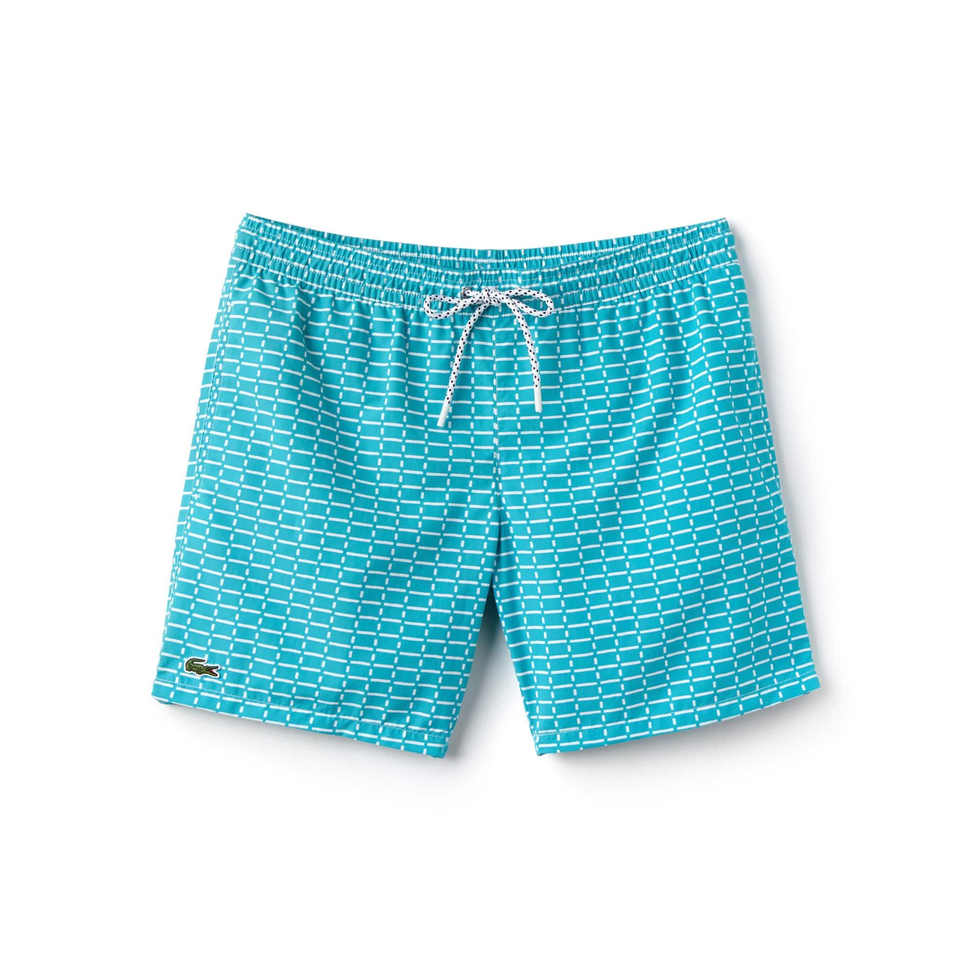 Men's Net Print Swimming Trunks