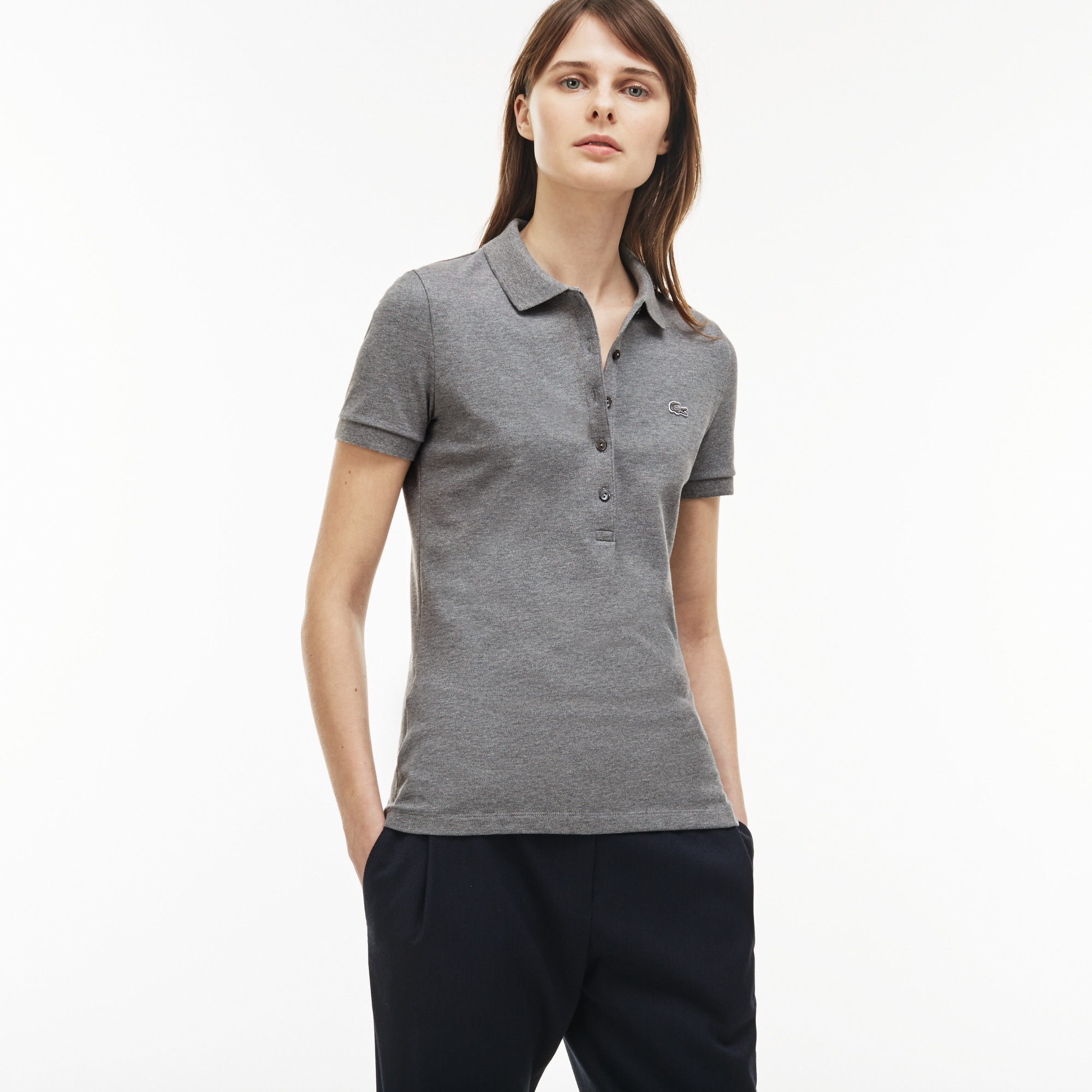 7f9448d4c0 + 27 colors + 30 colors. Women's Slim Fit Stretch Mini Cotton Piqué Polo  Shirt