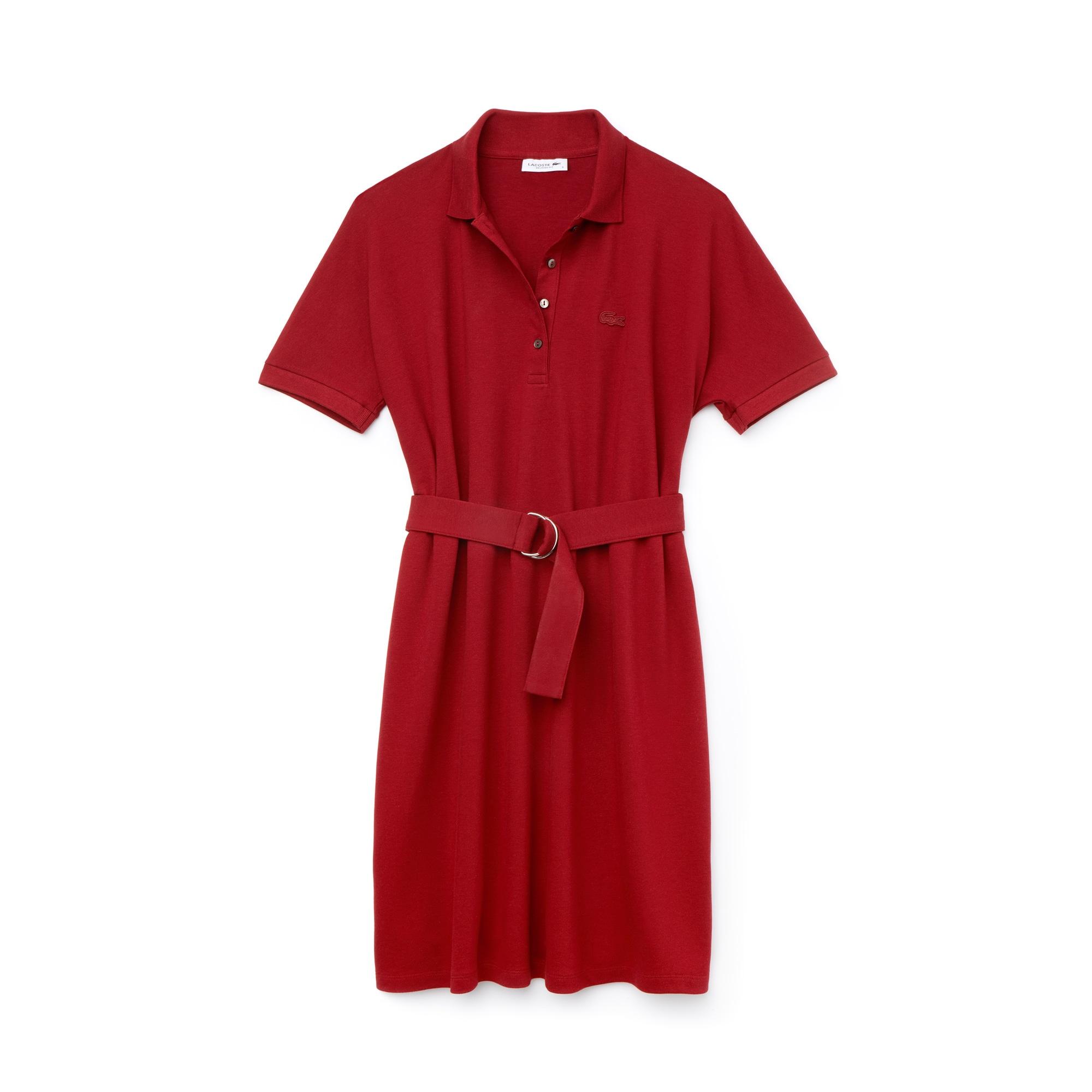 라코스테 피케 원피스 레드 Lacoste Womens Flowing Cotton Pique Polo Dress,passion