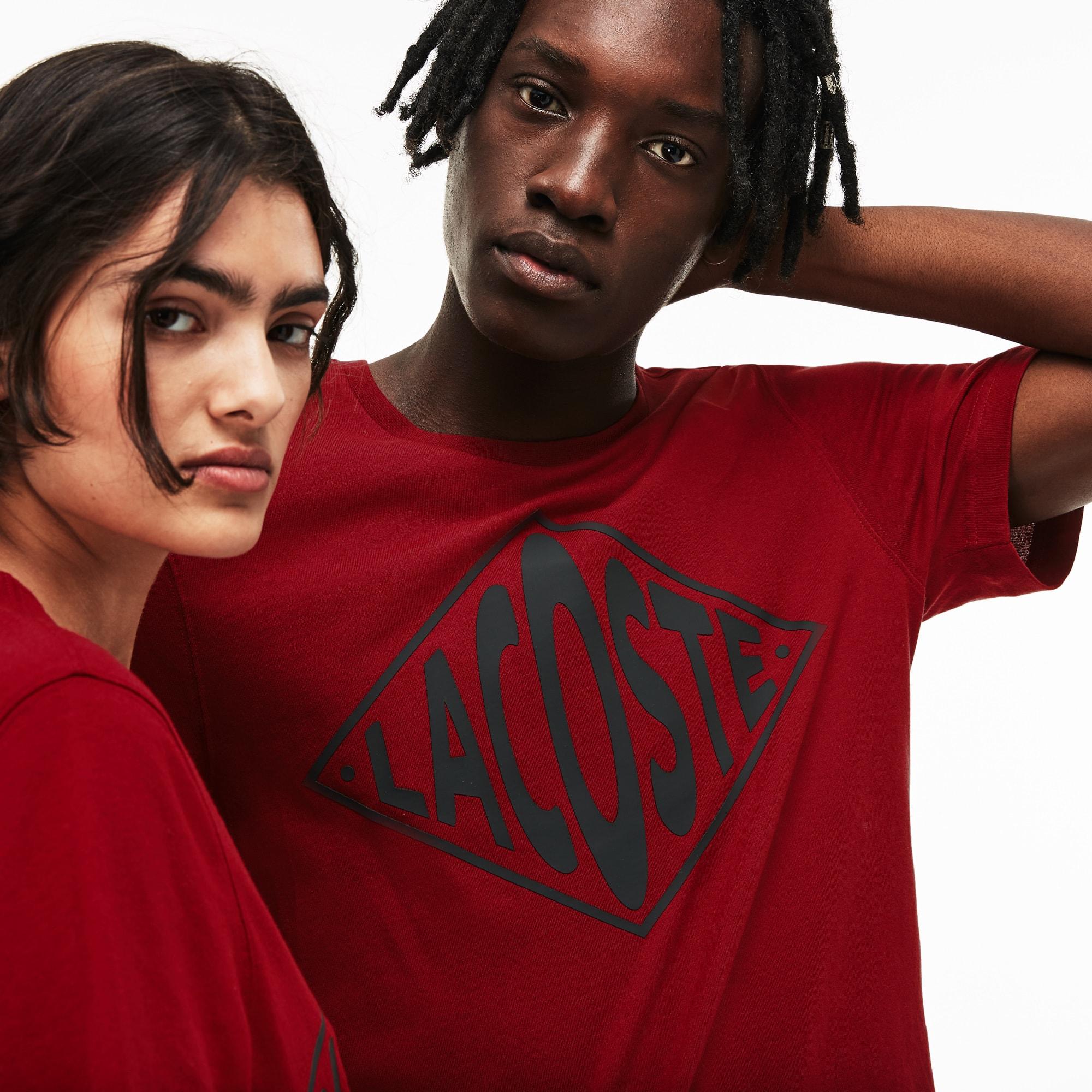 Unisex LIVE Crew Neck Oversized Logo T-Shirt