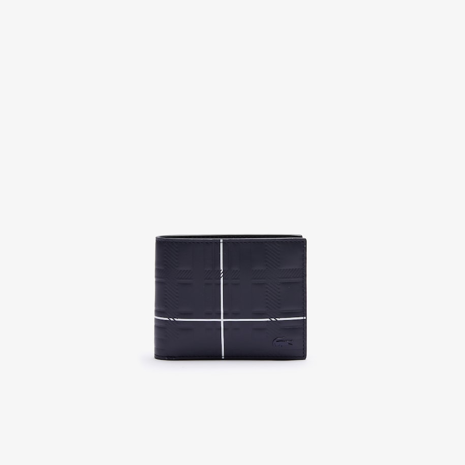 Men's Fitzgerald Check-Effect Textured Leather Wallet