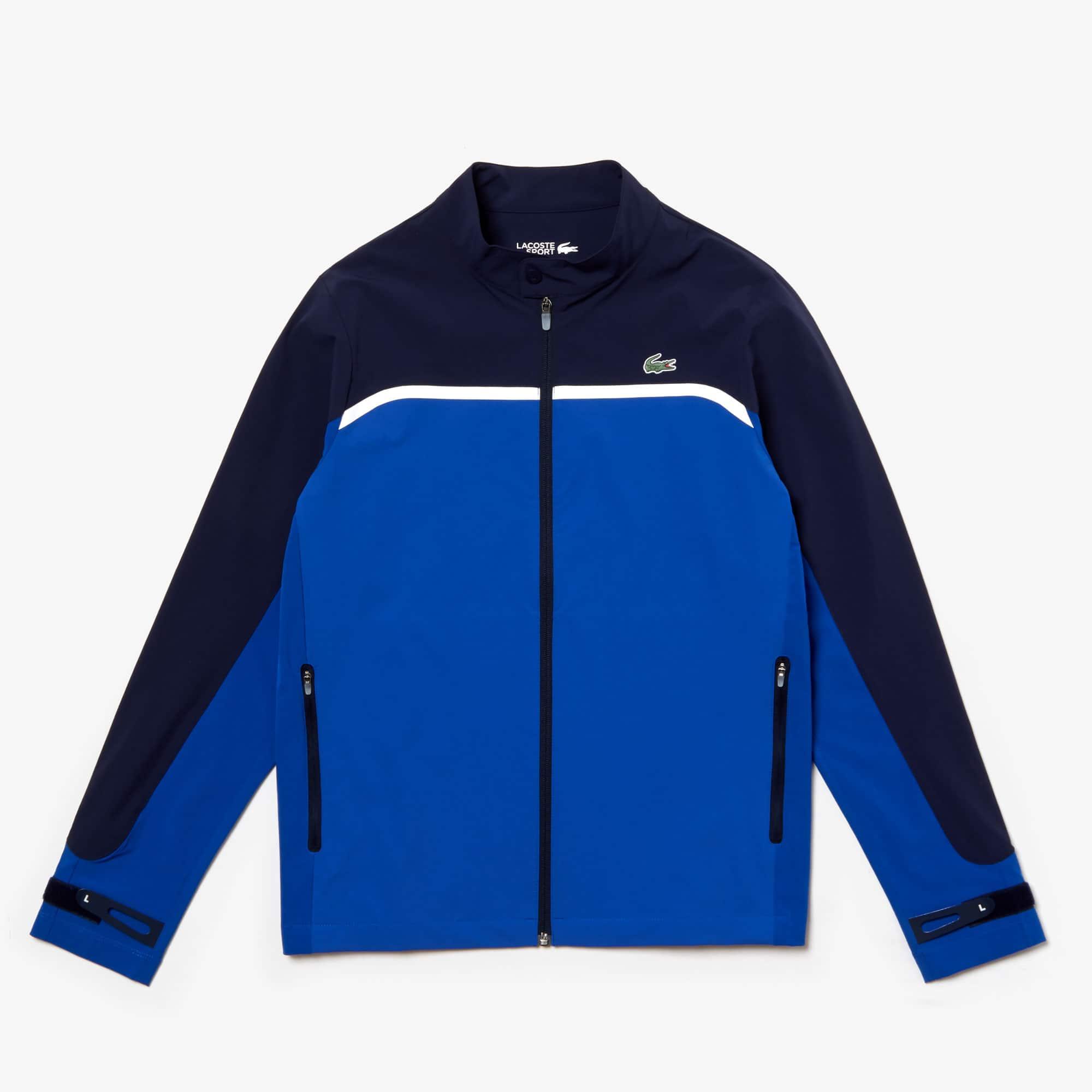 Lacoste Jackets Men's SPORT Color-Blocked Lightweight Stretch Zip Jacket