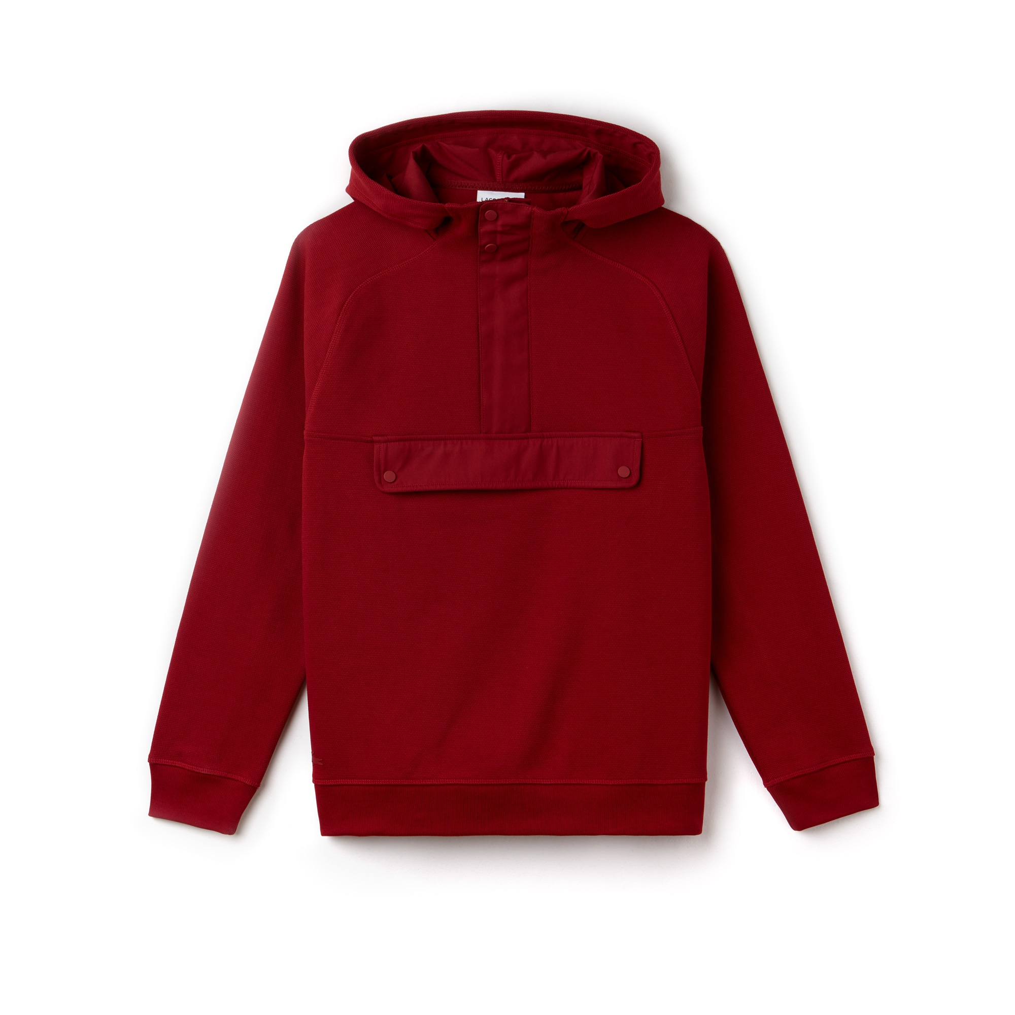 Men's Hooded Jacquard Piqué Sweatshirt