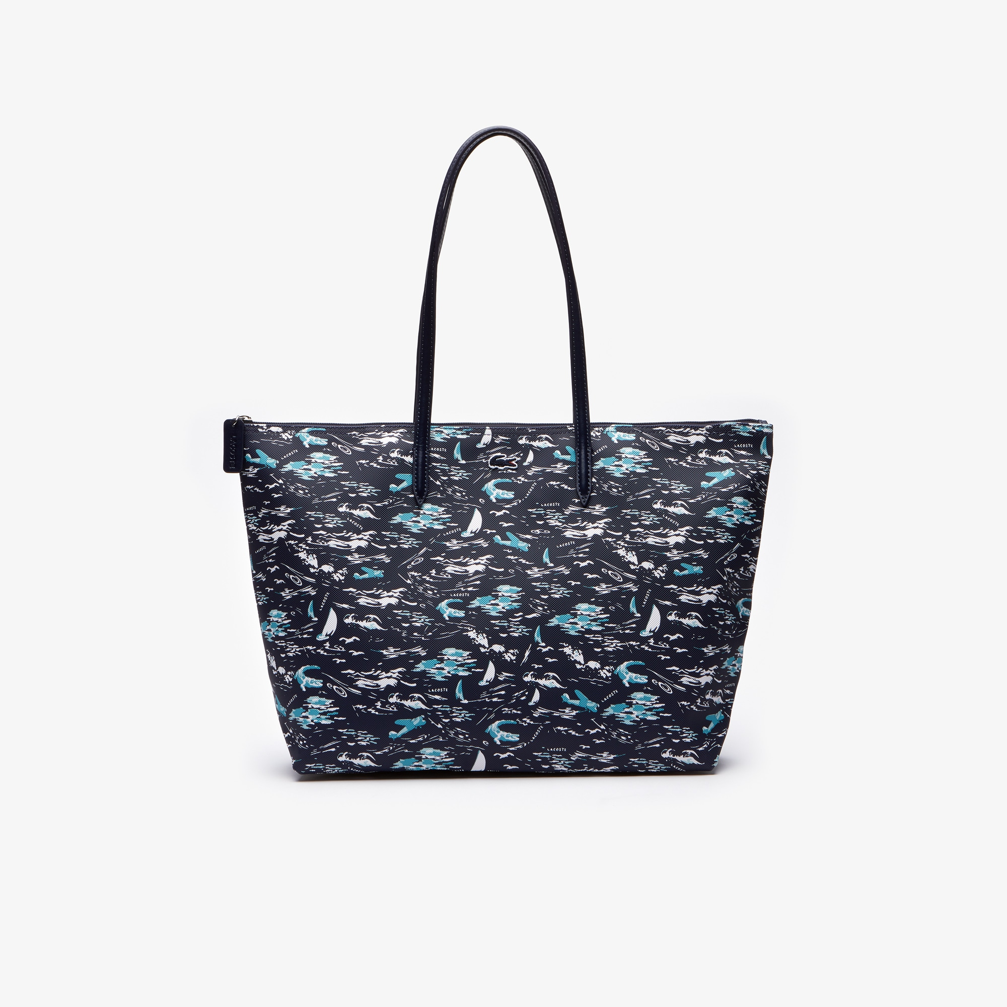 라코스테 Lacoste Womens L.12.12 Concept Hawaiian Print Large Tote Bag,MICRO HAWAI