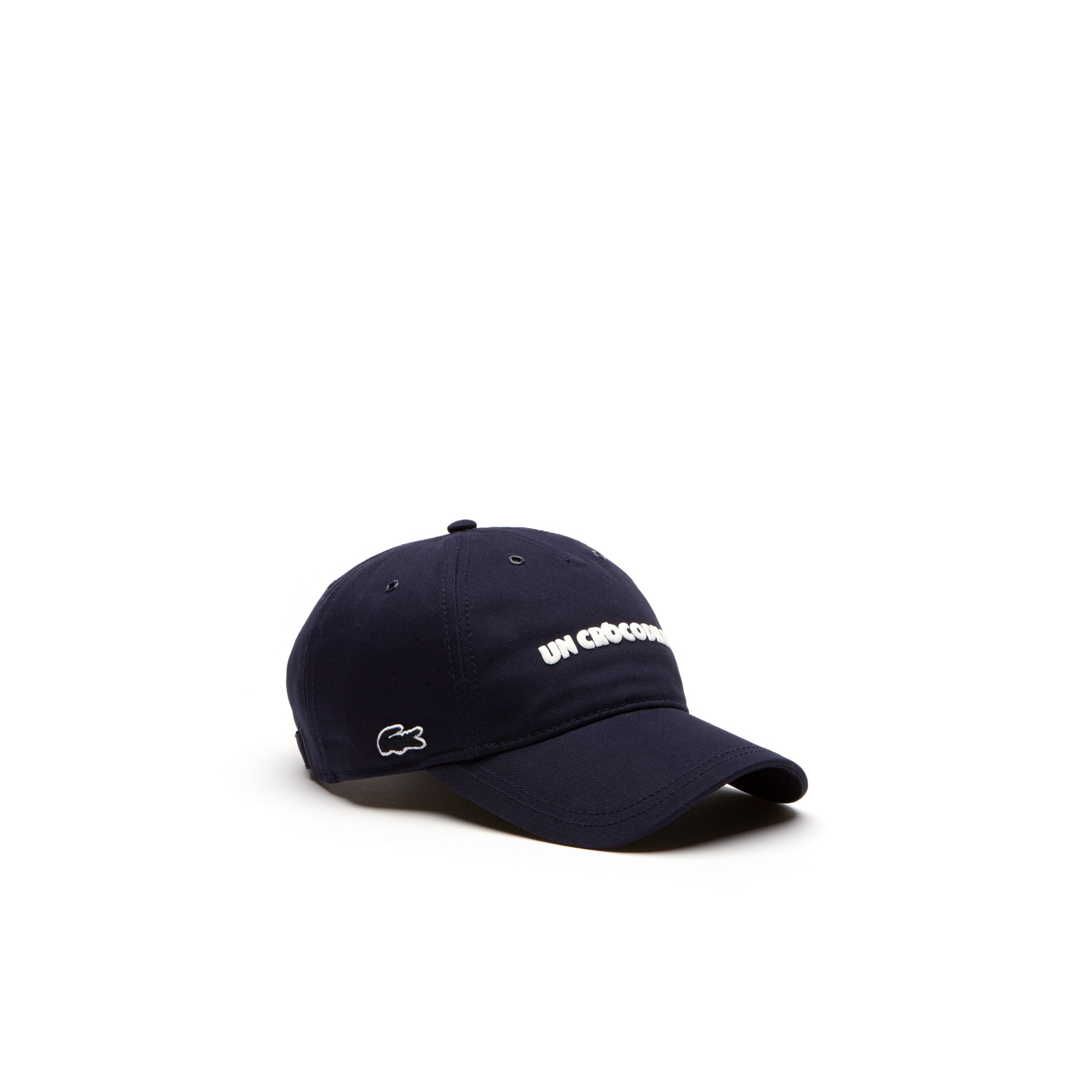 Men's Un Crocodile Lettering Gabardine Cotton Cap