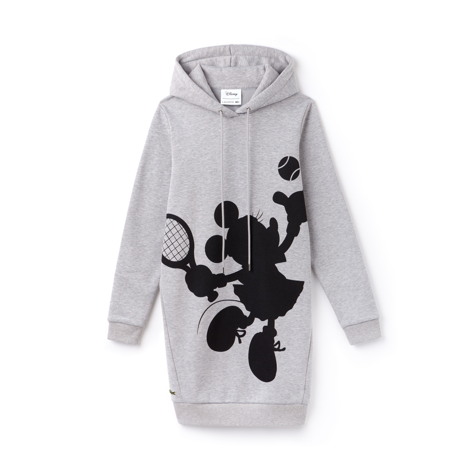 Women's Hooded Disney Minnie Print Fleece Sweatshirt Dress