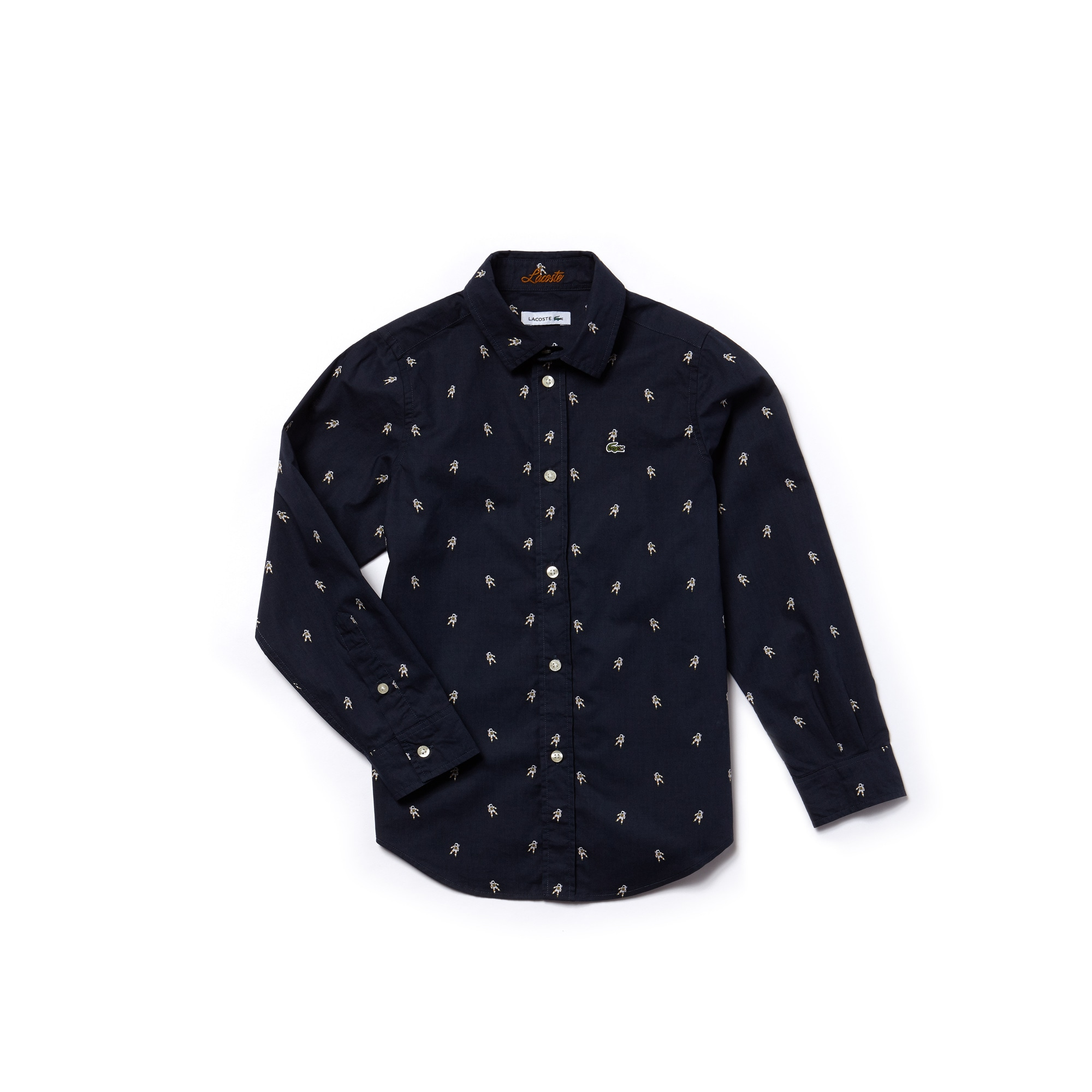 Boys' Cosmos Print Poplin Shirt