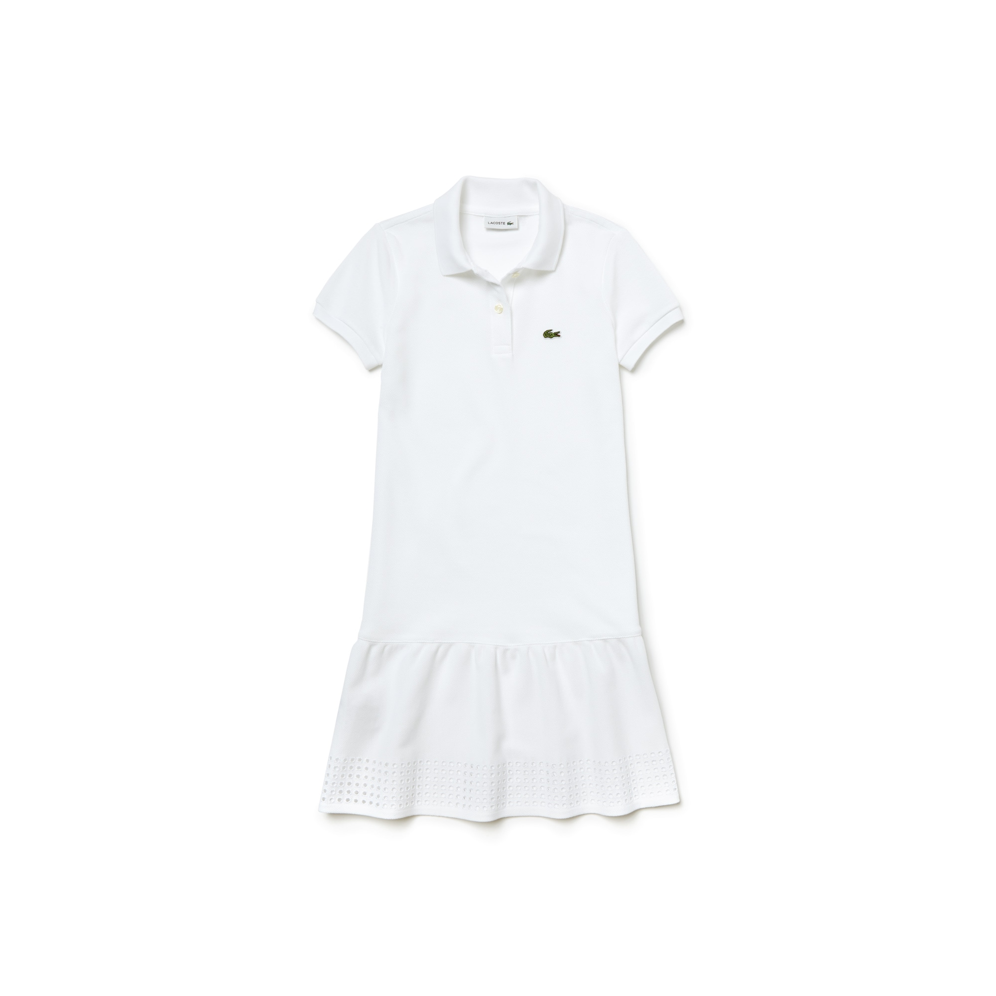 Kid's Openwork Piqué Knit Polo Dress