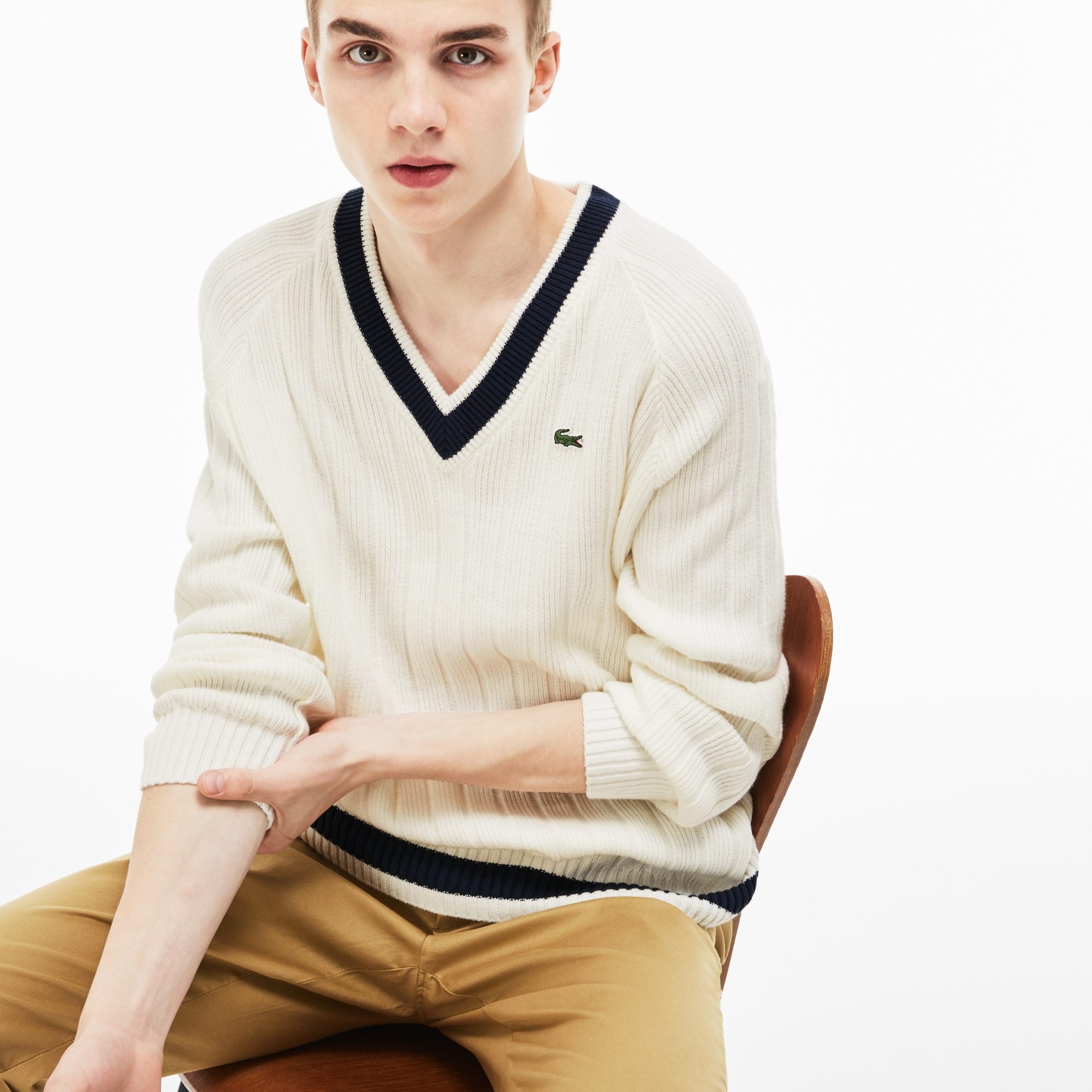 Men's LIVE Ribbed Cotton Sweater