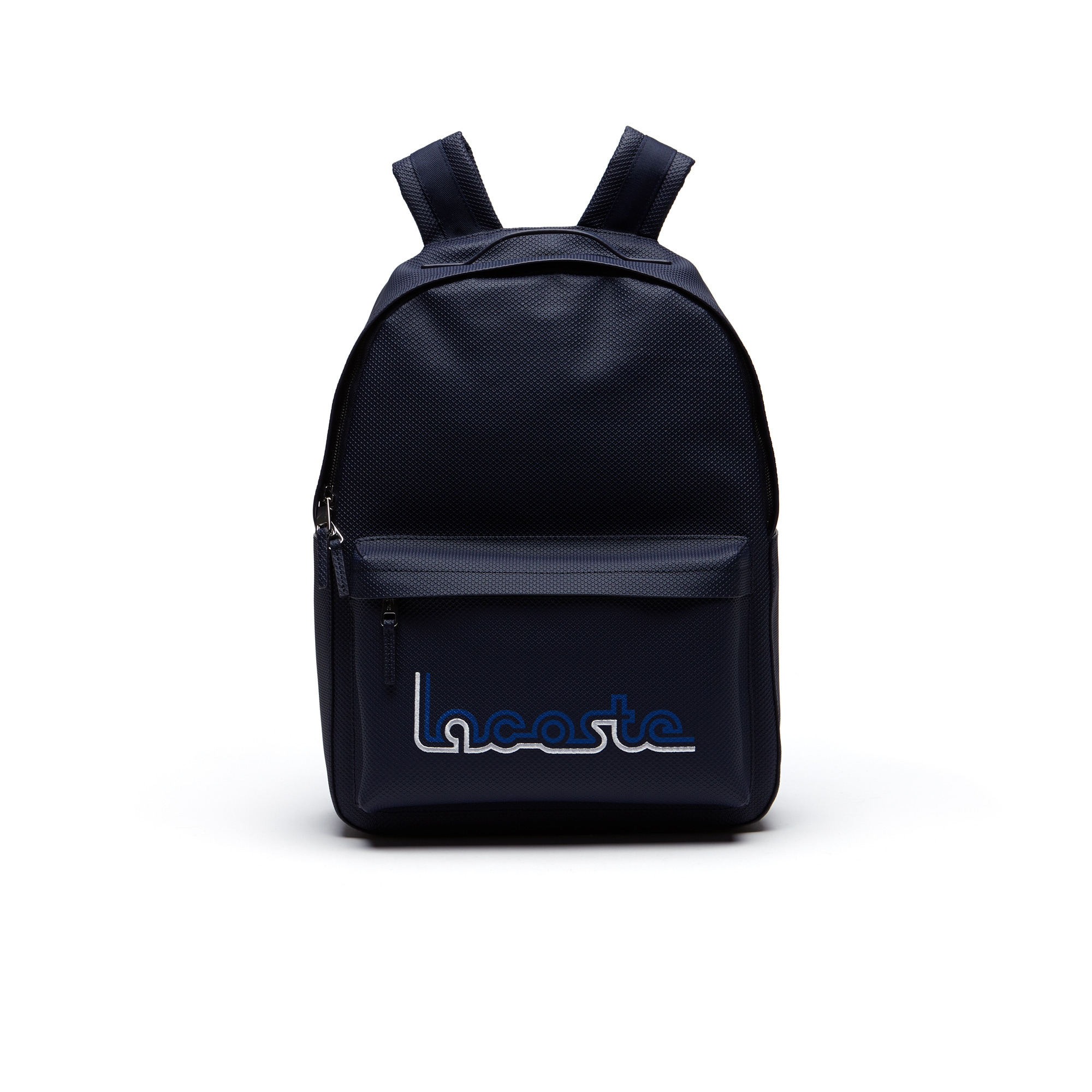 Men's Chantaco Lacoste Embroidery Coated Leather Backpack
