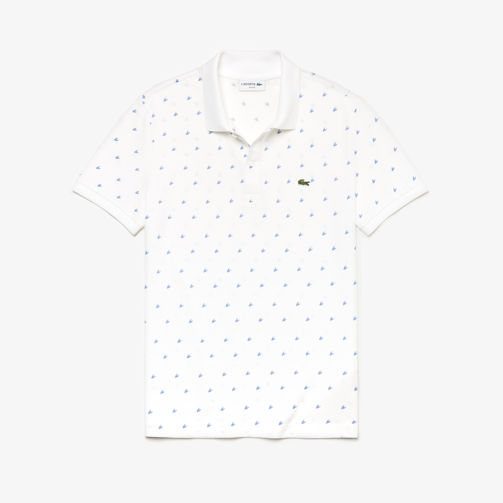 Men's Slim Fit Patterned Cotton Mini Piqué Polo