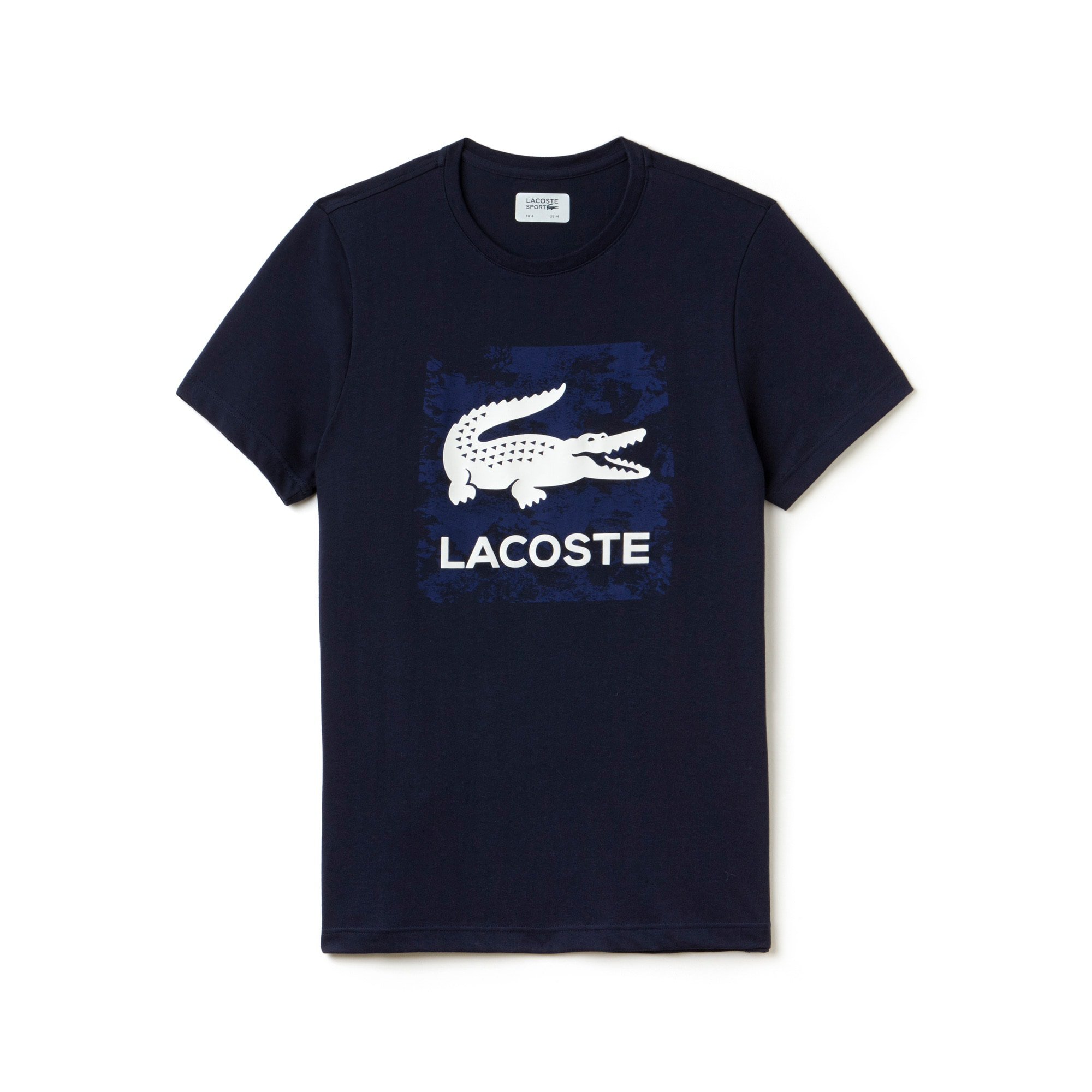 men 39 s sport tennis print technical jersey t shirt lacoste. Black Bedroom Furniture Sets. Home Design Ideas