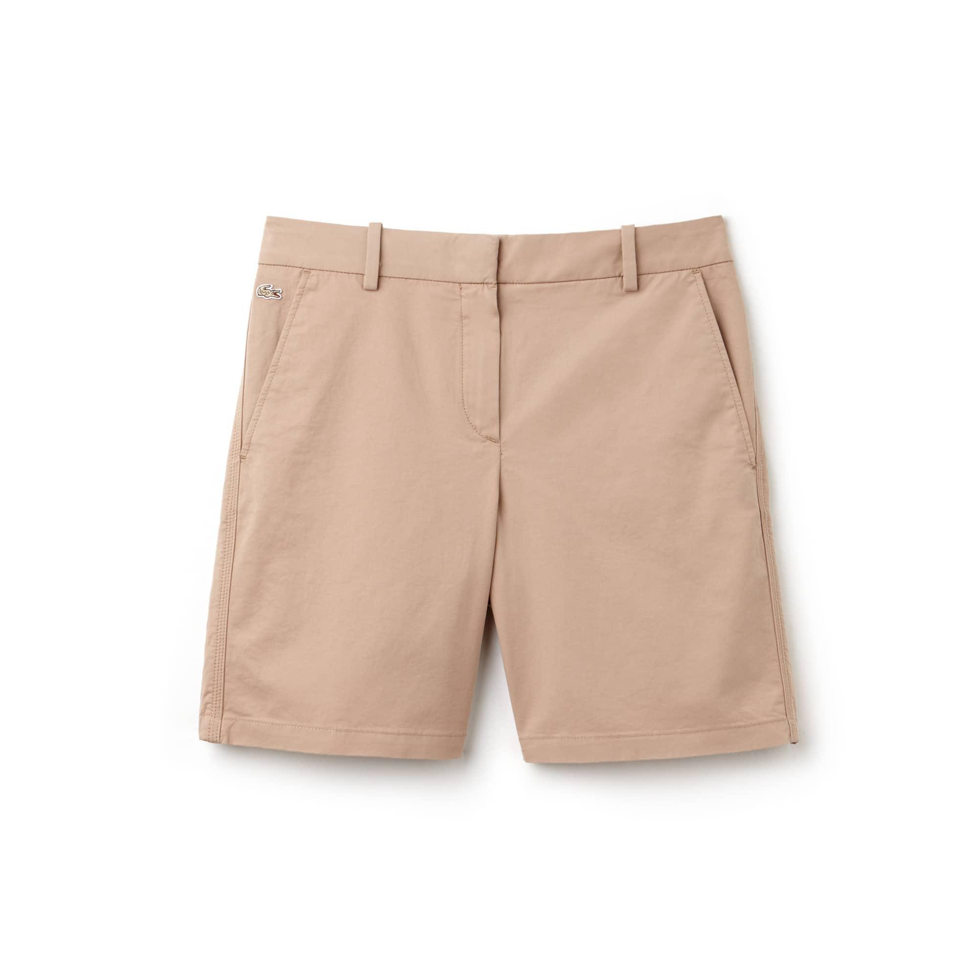 라코스테 반바지 Lacoste Womens Stretch Bermuda Shorts,kraft beige