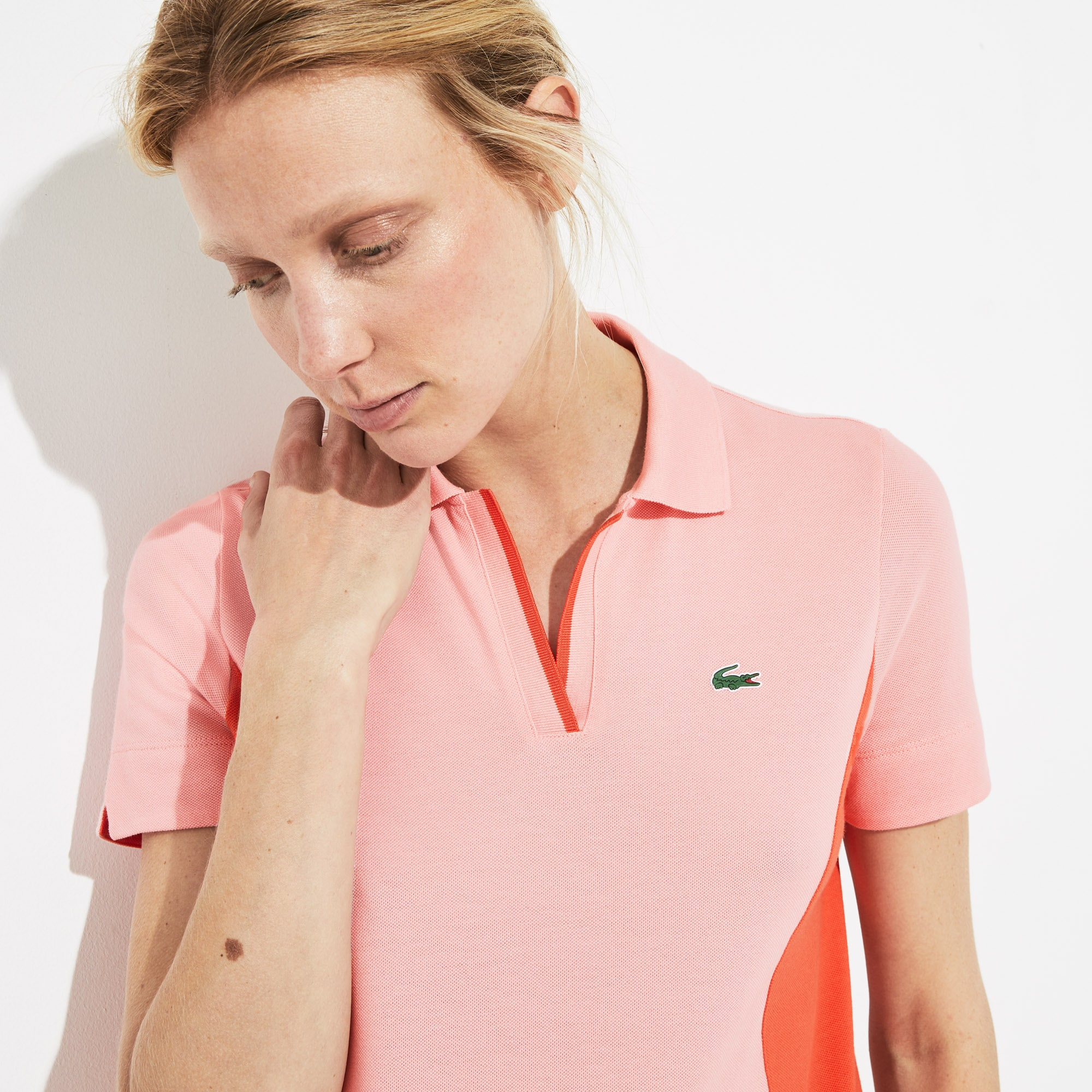 Women's SPORT Open Neck Cotton Golf Polo