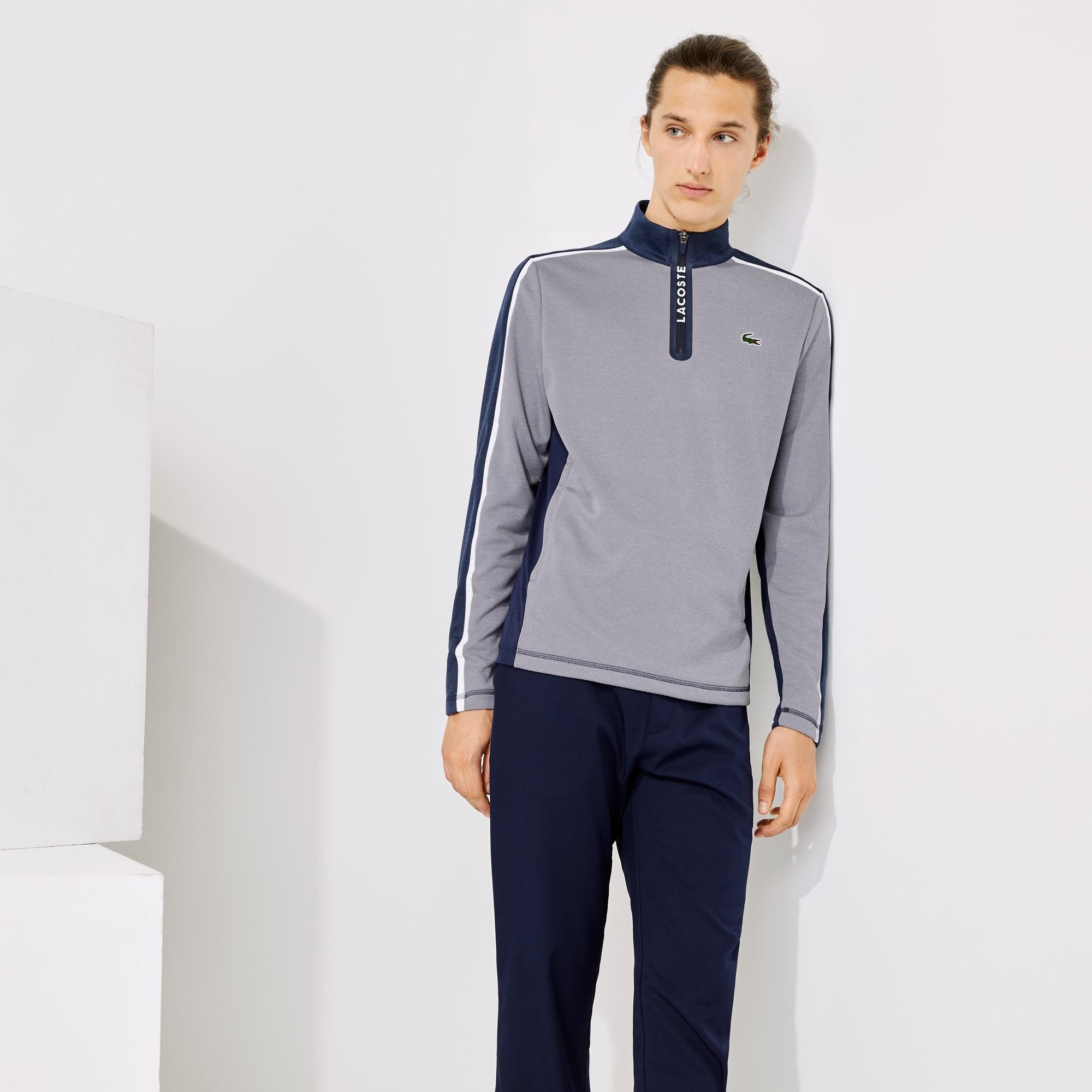 Lacoste Mens SPORT Zip Stand-Up Collar Stretch Golf Sweatshirt