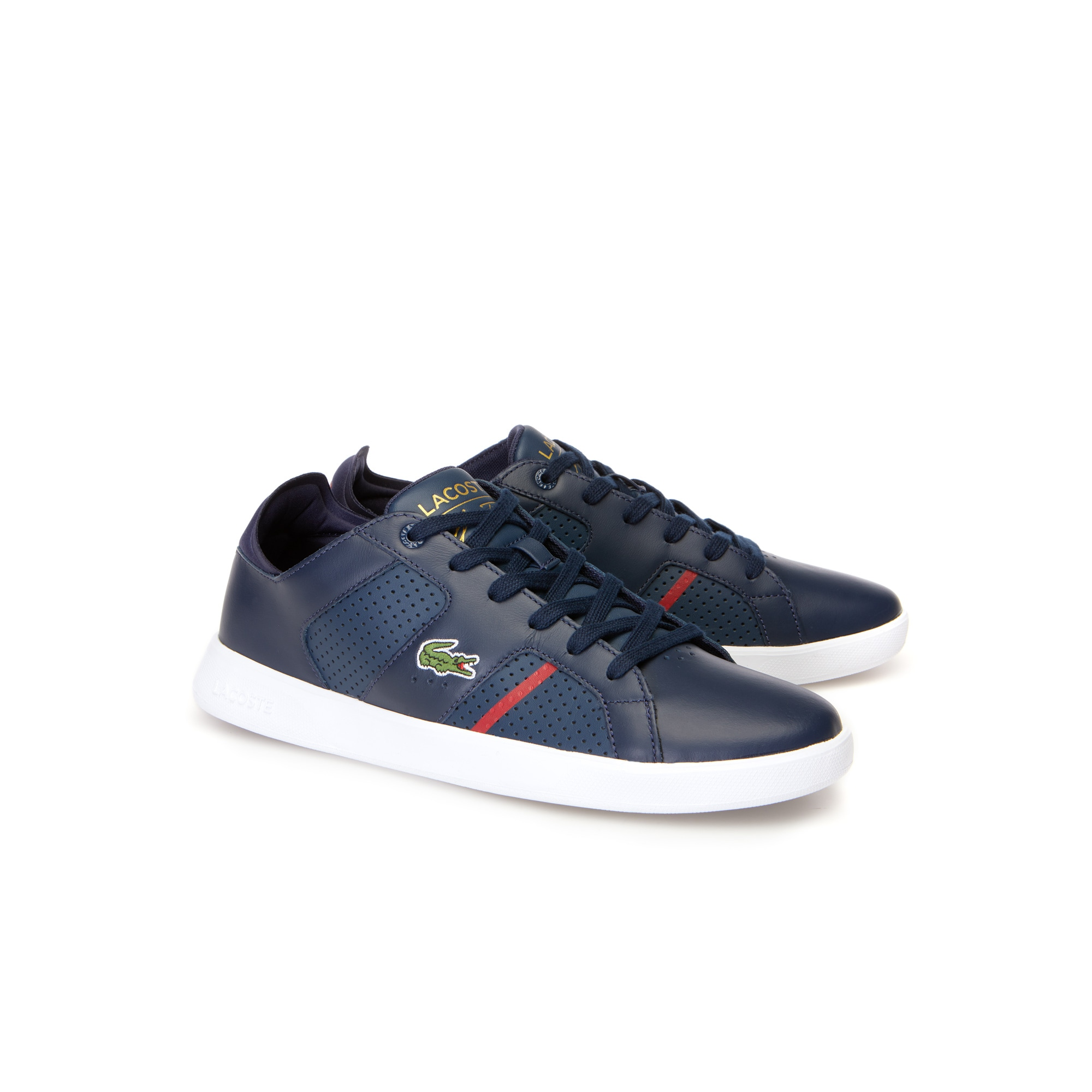 Brand New Lacoste RENE SPORT Mens Trainers/Shoes Size UK 9.5 / EU 44 Red