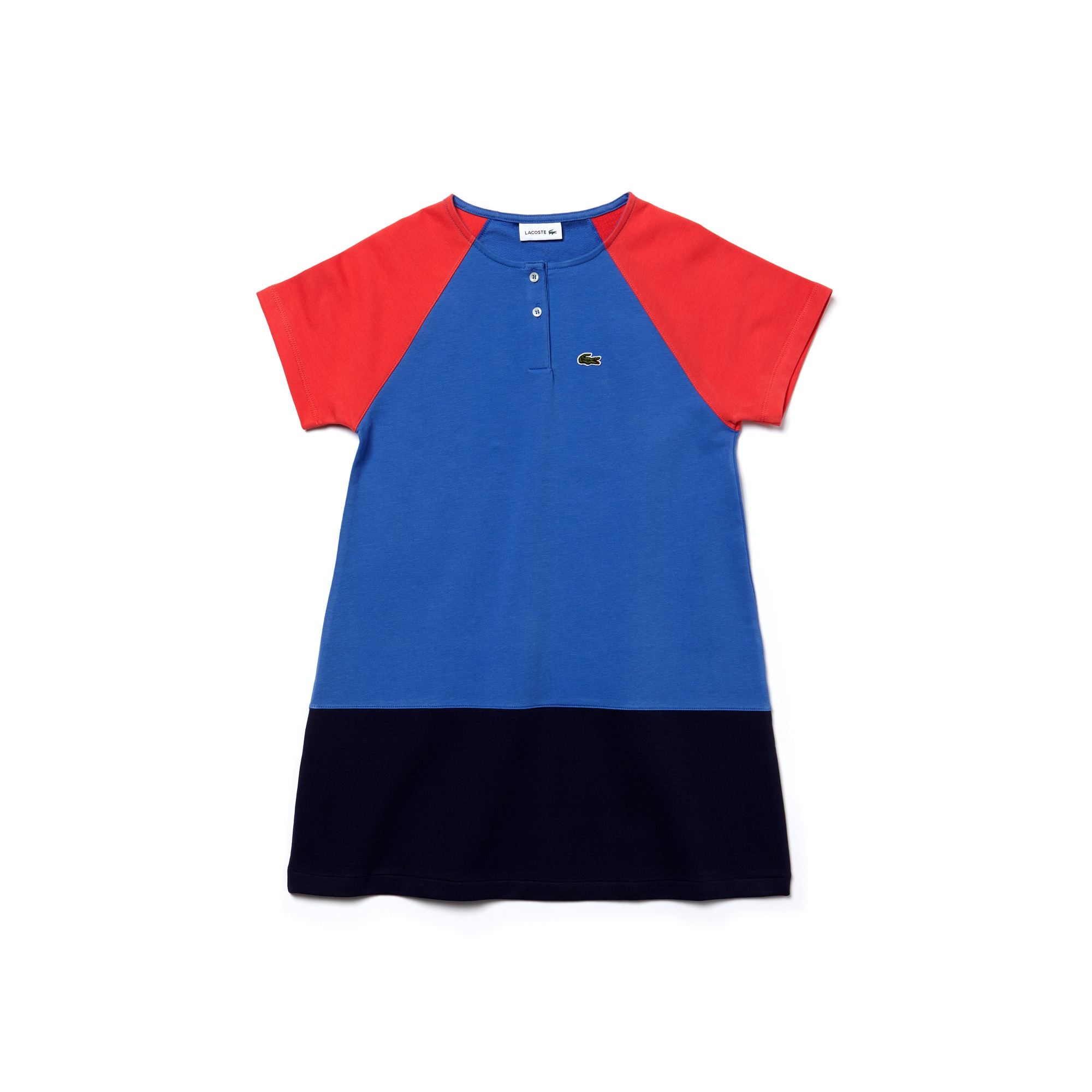 Kids' Colorblock Stretch Cotton Fleece Dress