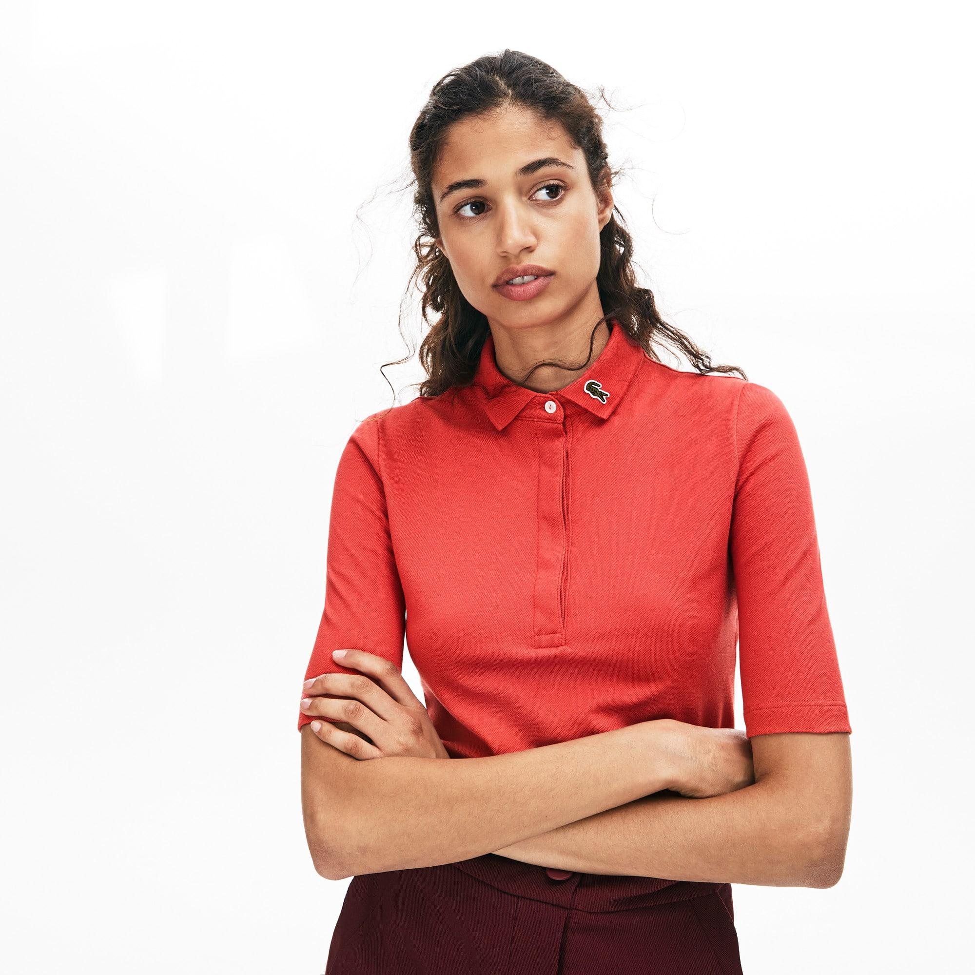 Lacoste Tops Women's Slim Fit Cotton Piqué Polo Shirt