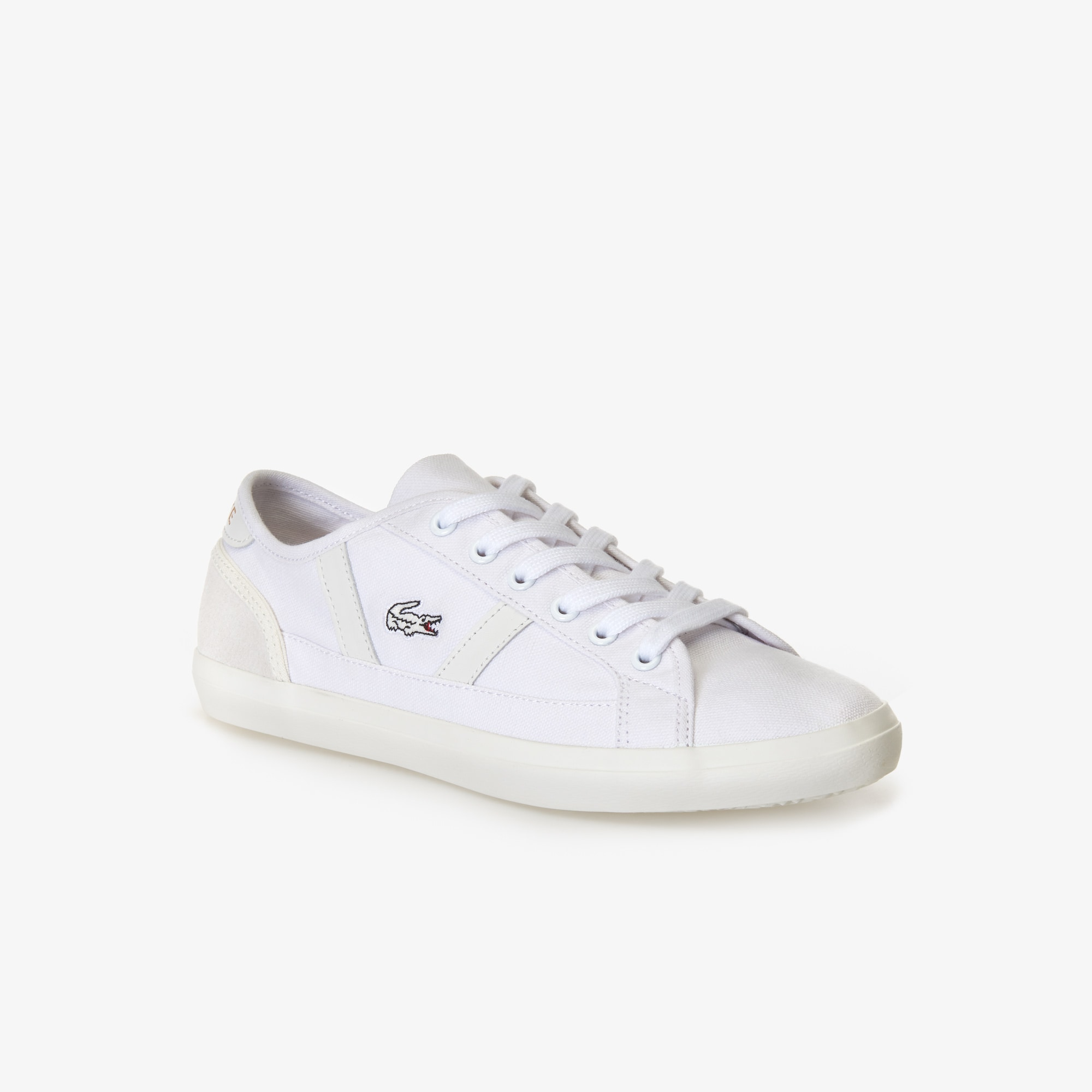 Women's Sideline Canvas and Leather Trainers