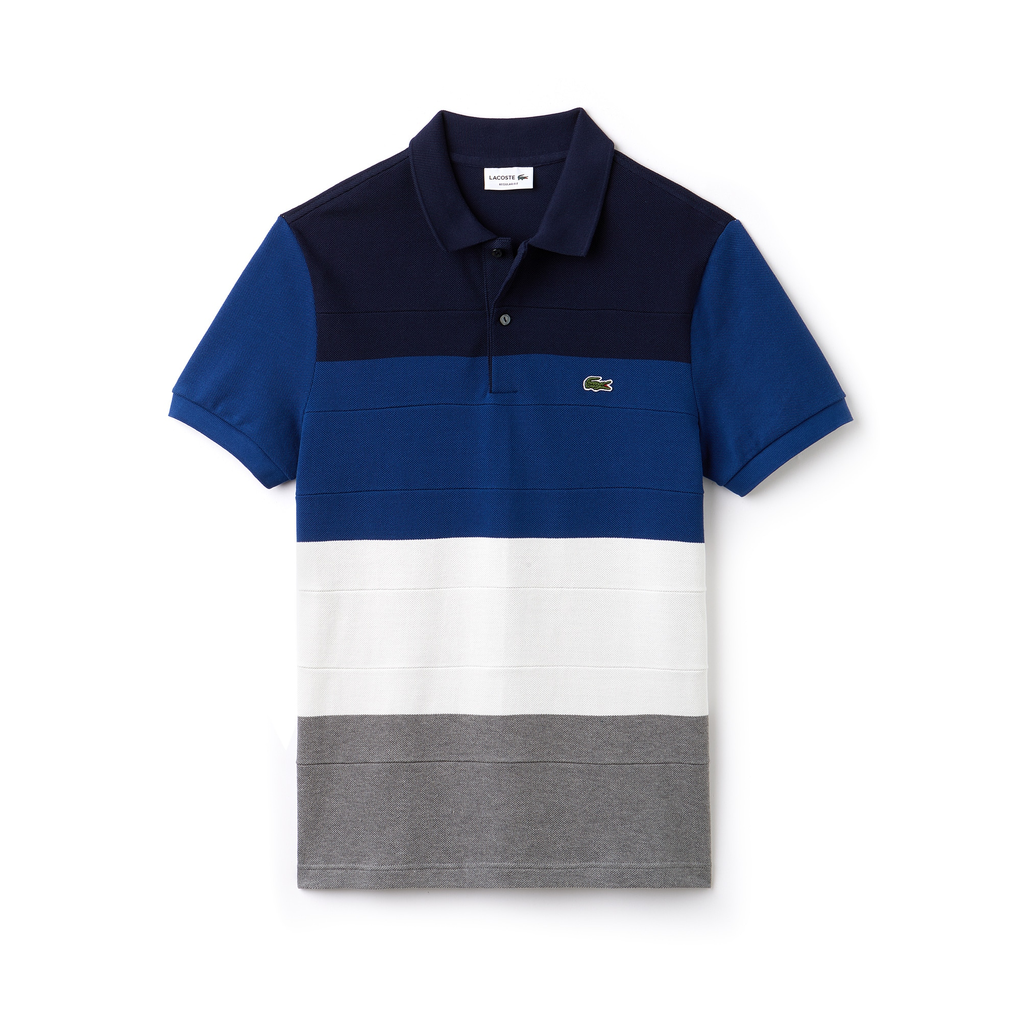 Men's Lacoste Regular Fit Colourblock Cotton Piqué Polo