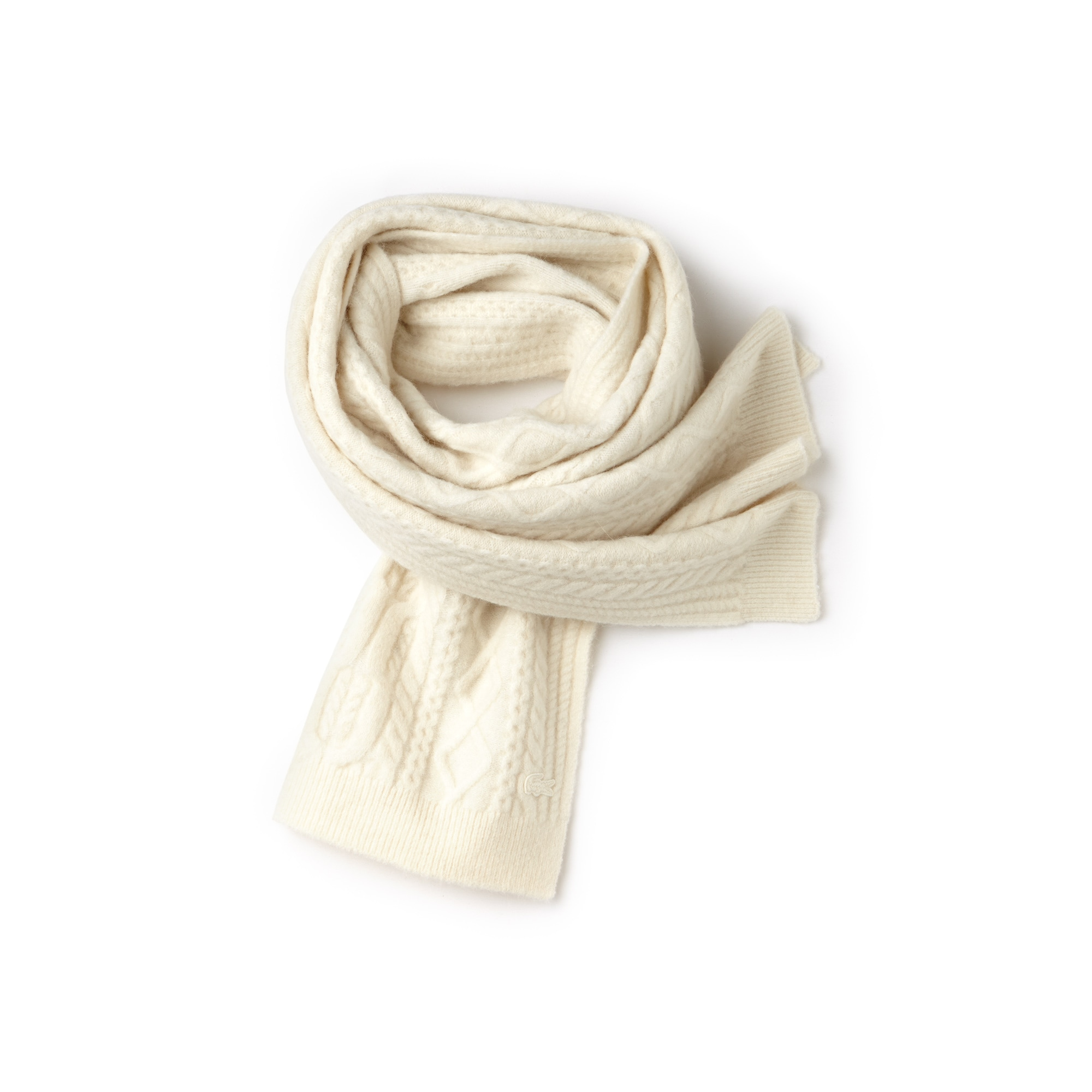 Women's Alpaga And Wool Cable Knit Scarf
