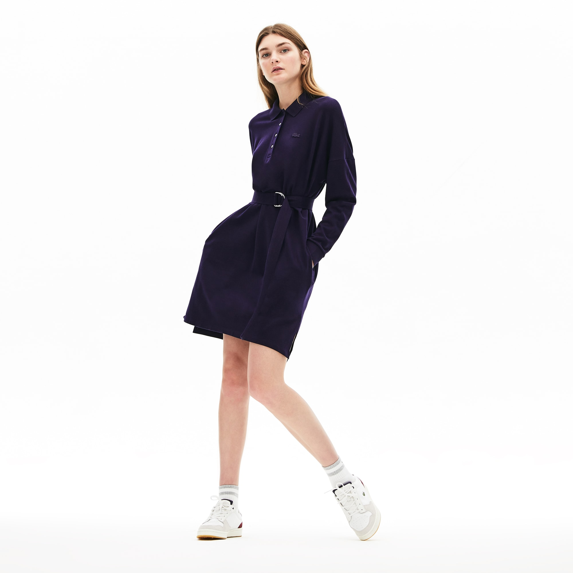 Lacoste Dresses Women's Dolman-Sleeve Piqué Polo Dress