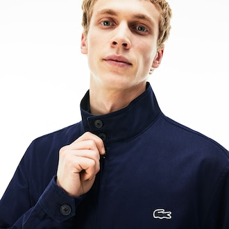 라코스테 Lacoste Mens Cotton Twill Jacket,Navy Blue - 166 (Selected colour)