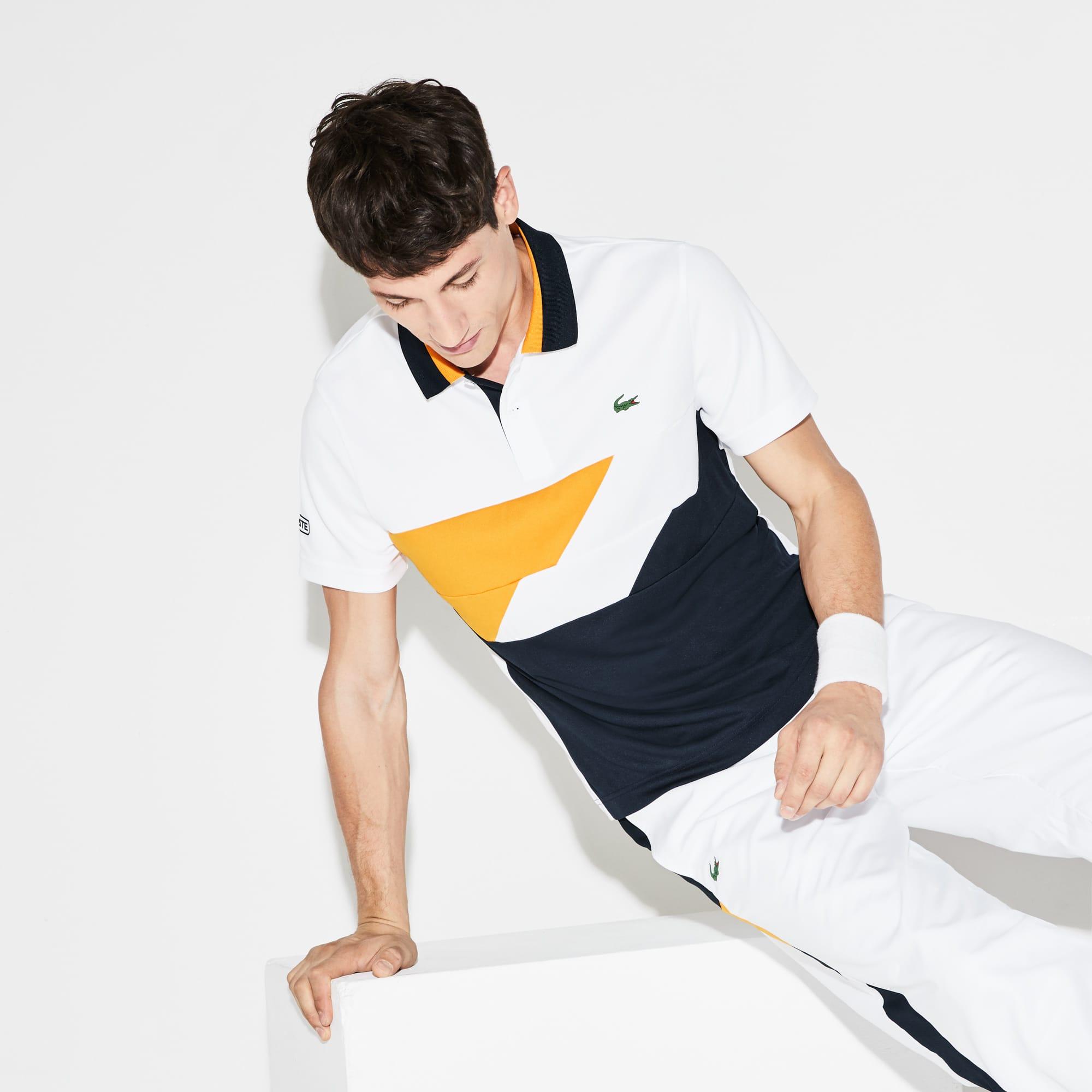 Men's SPORT Colorblock Bands Technical Piqué Tennis Polo