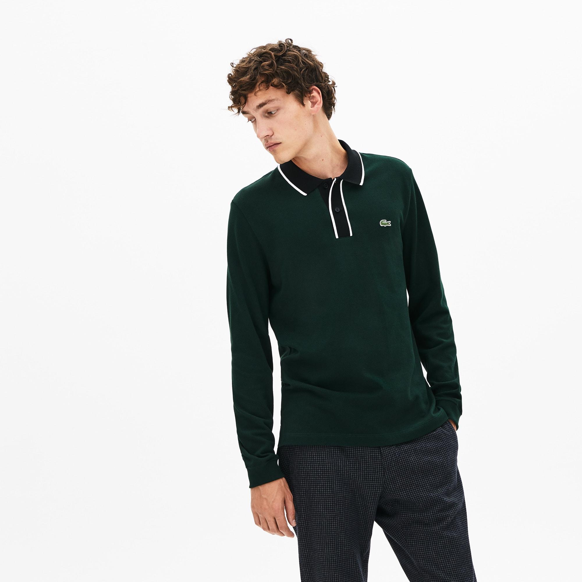 Lacoste Tops Men's Regular Fit Cotton Piqué Polo Shirt