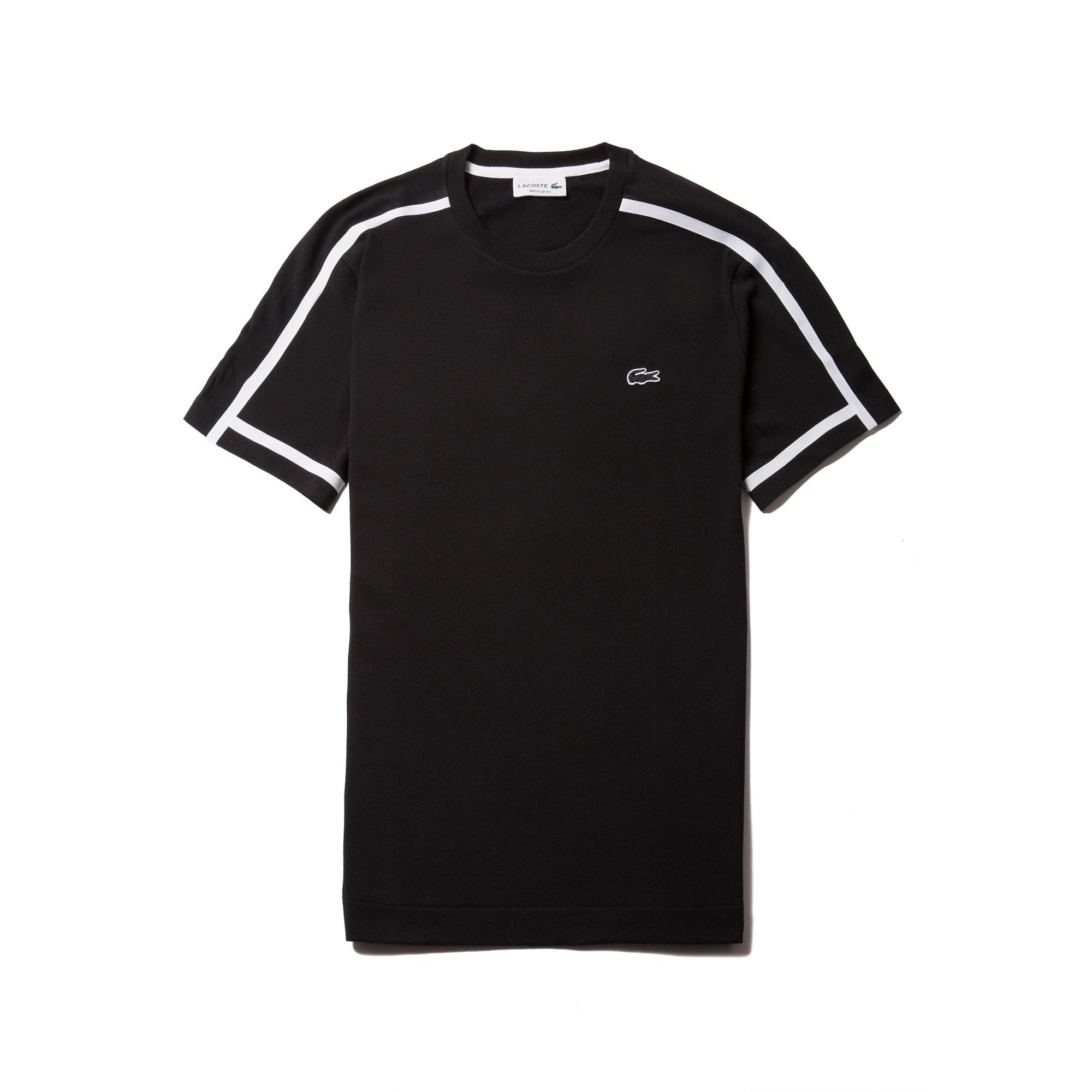 Men's Crew Neck Thick Piping Cotton Petit Piqué T-shirt