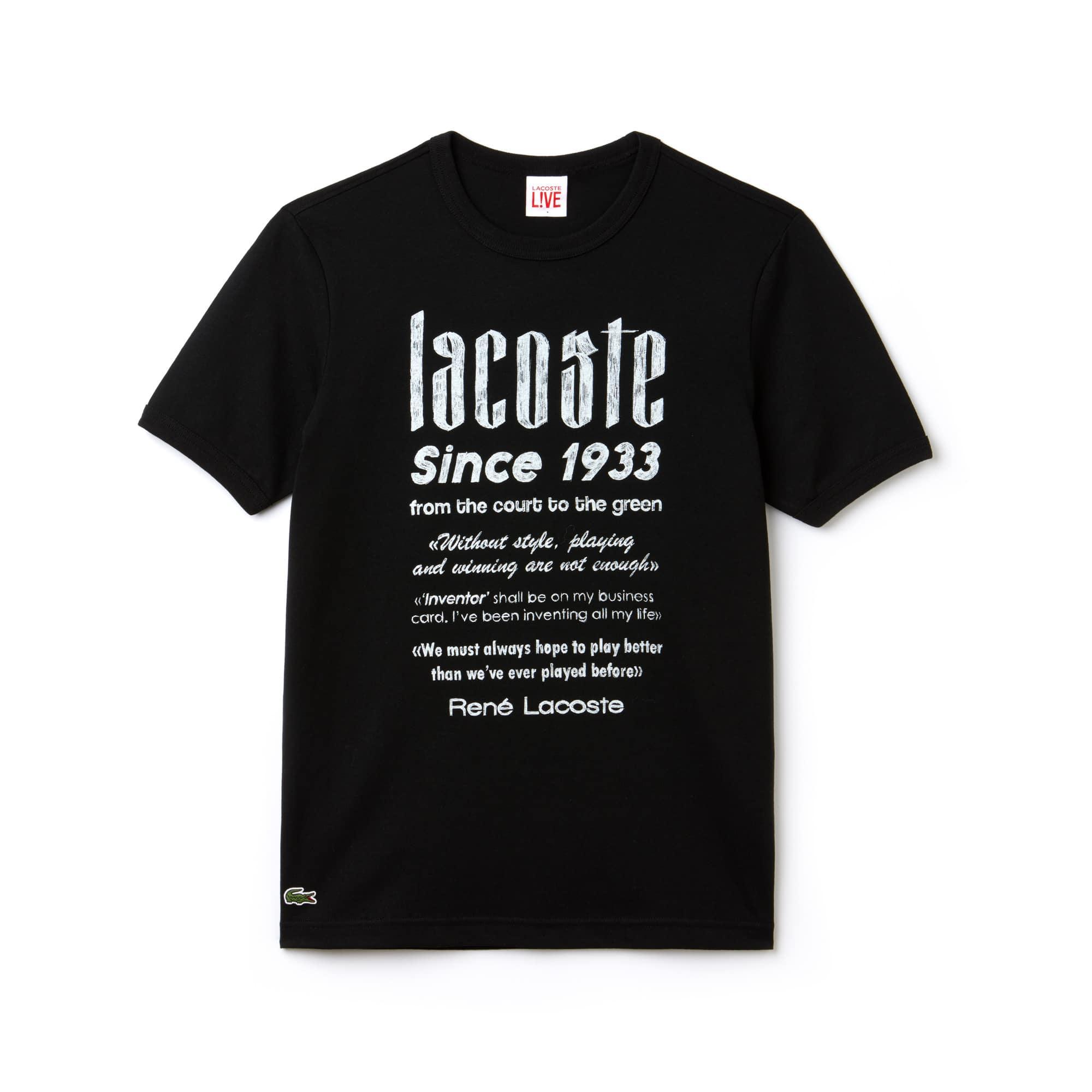 Men's LIVE Crew Neck Heritage Print Cotton Jersey T-shirt