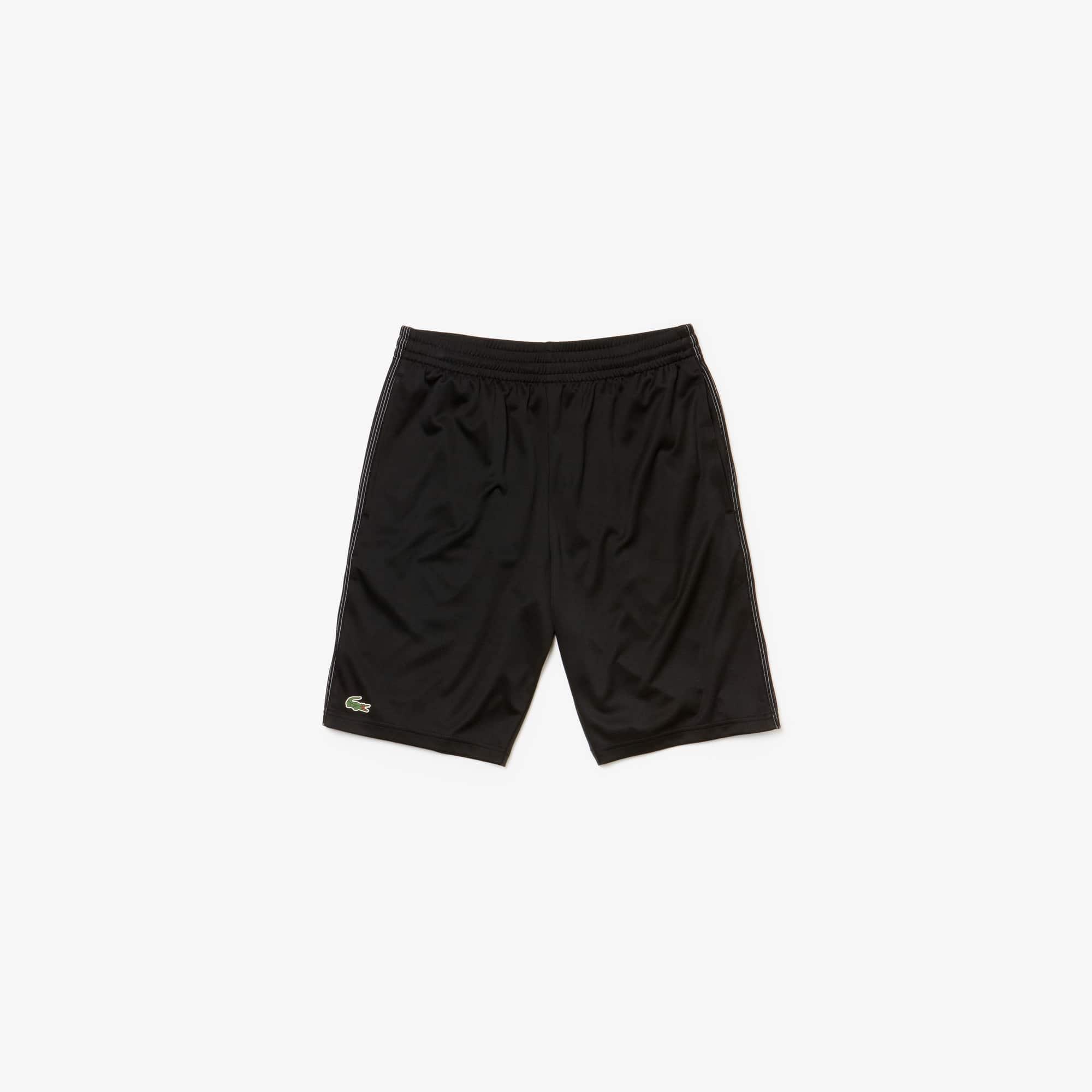 라코스테 스포츠 반바지 Lacoste Mens SPORT Technical Pique Shorts - x Novak Djokovic Support With Style - Off Court Collection,black/white