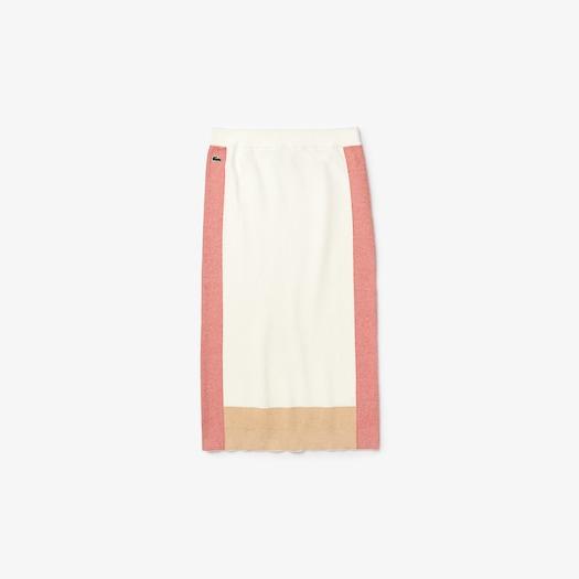 라코스테 컬러블록 펜슬 스커트 - 2 컬러 Lacoste Womens Colorblock Pencil Skirt