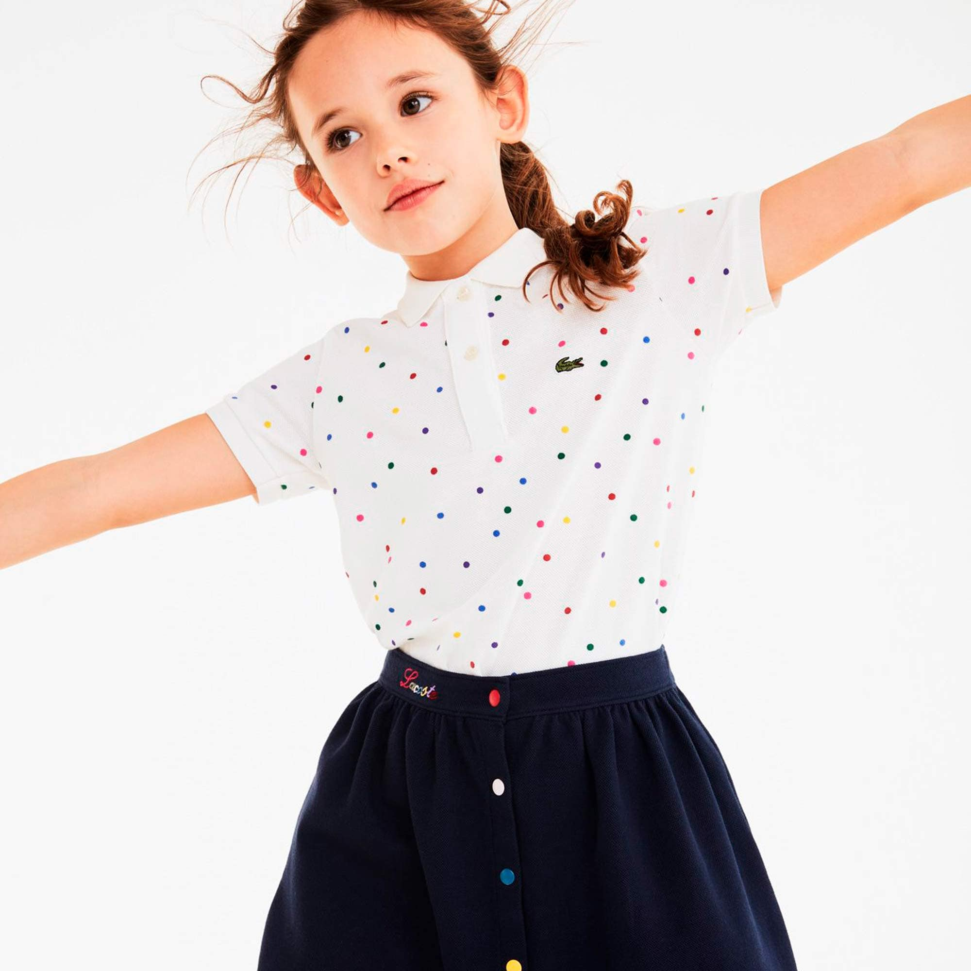 Lacoste Girls Multicolor Button Up Skirt