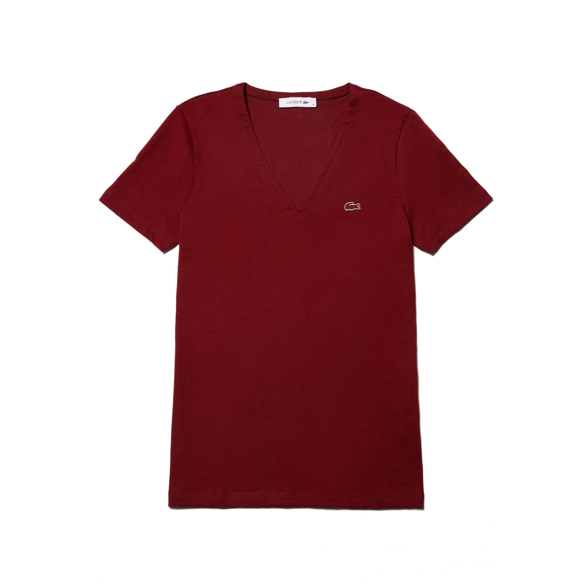 efddb7fcede7 T-Shirt col V Slim Fit en jersey de coton