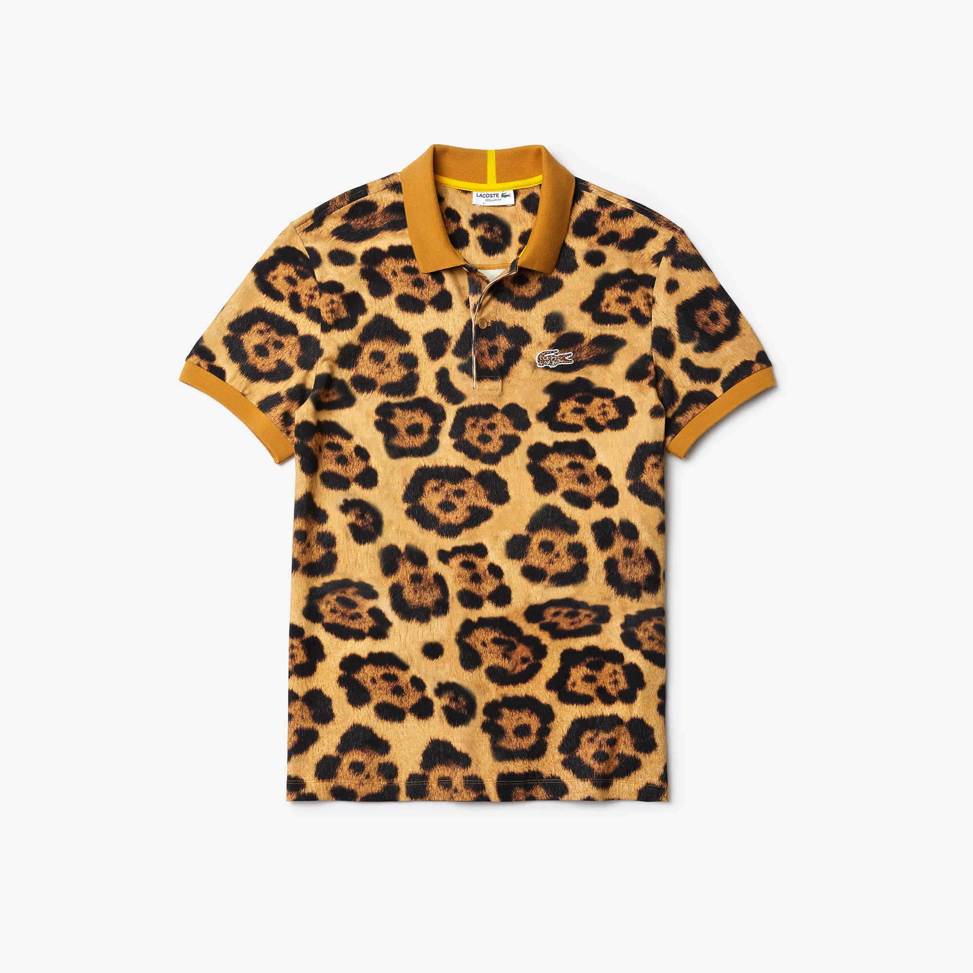 Men's Lacoste x National Geographic Regular Fit Print Cotton Polo Shirt
