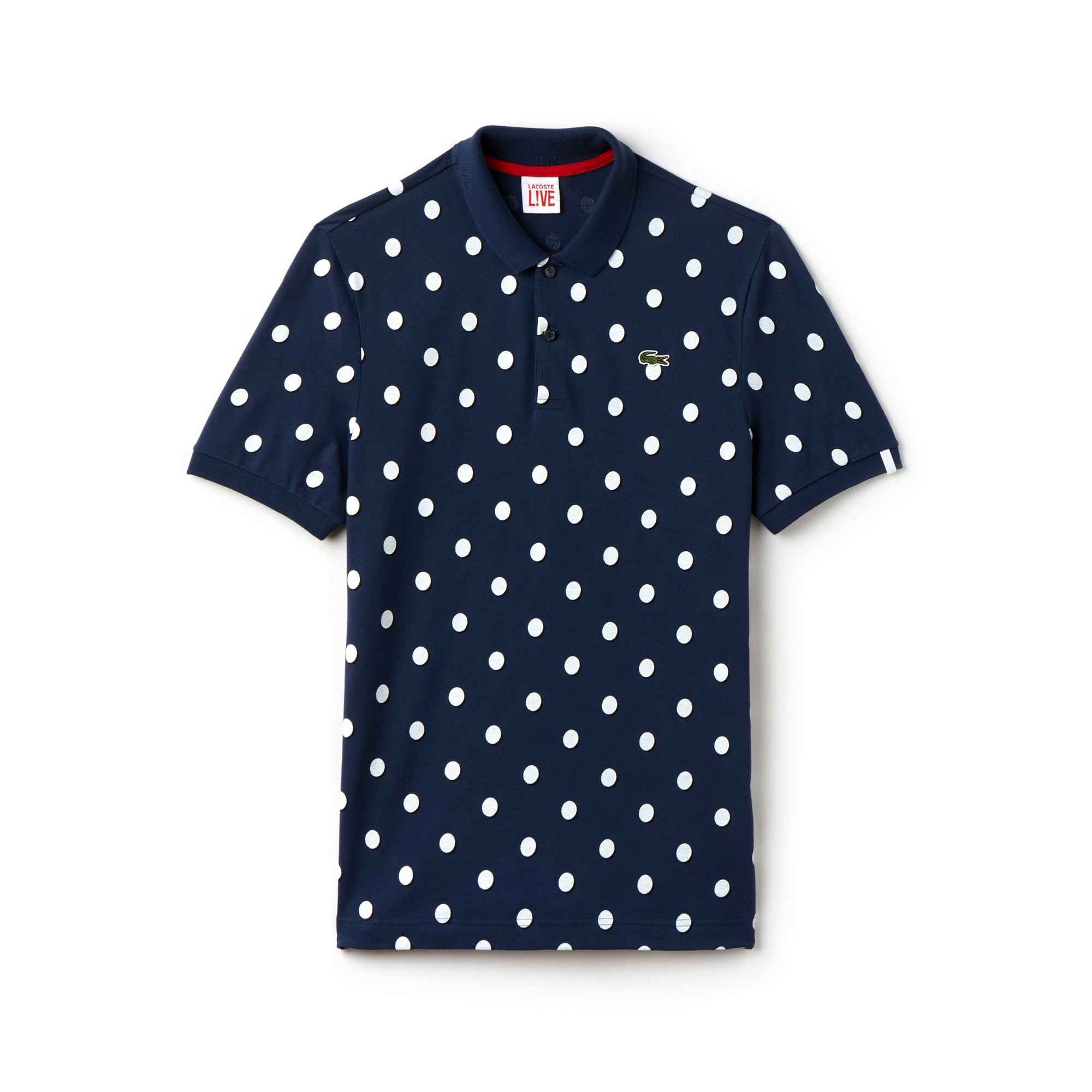 Men's L!VE Regular Fit Polka Dot Petit Piqué Polo Shirt