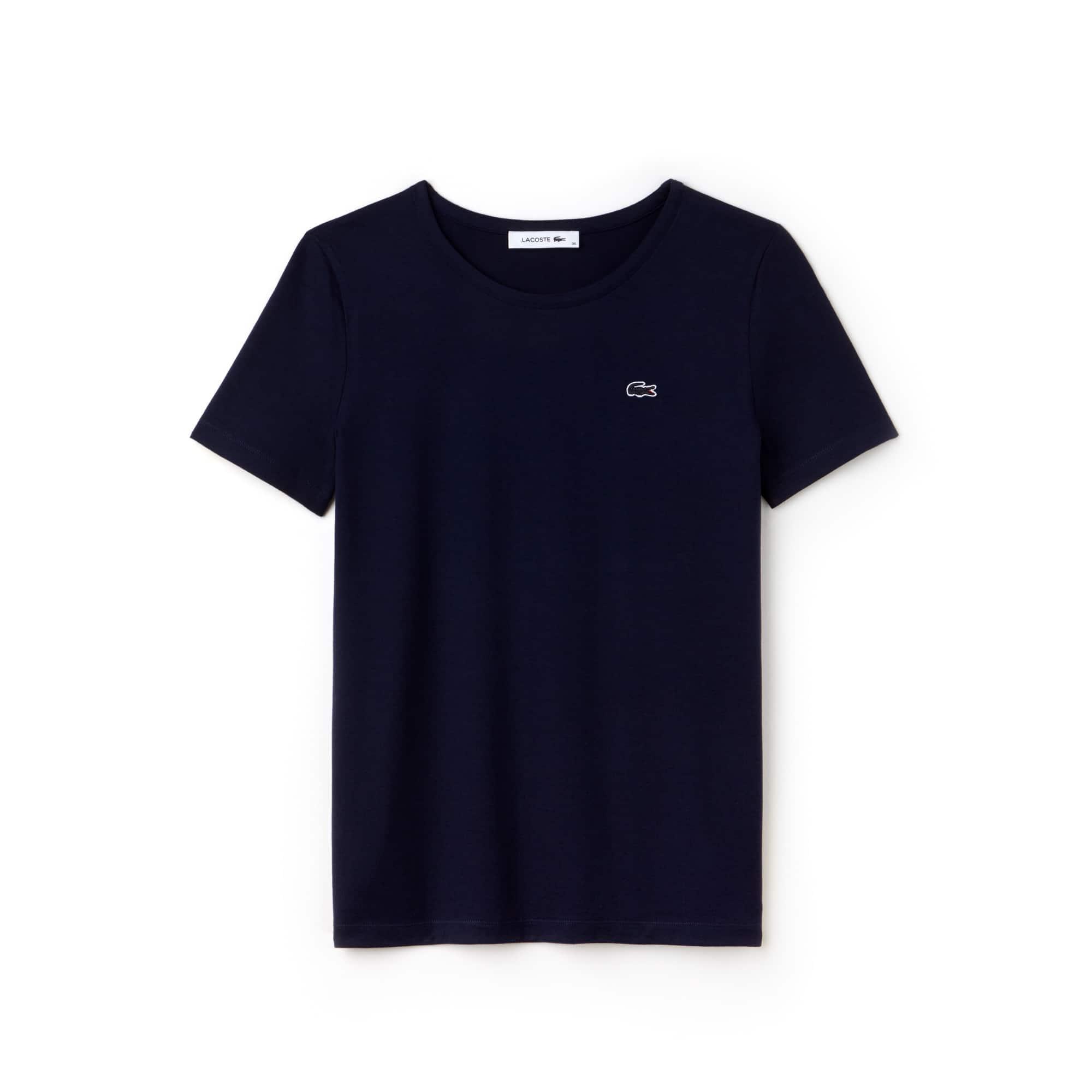 Women's Crew Neck Flowing Cotton Jersey T-shirt