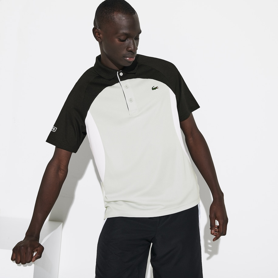 Men's SPORT Colorblock Breathable Piqué Tennis Polo Shirt