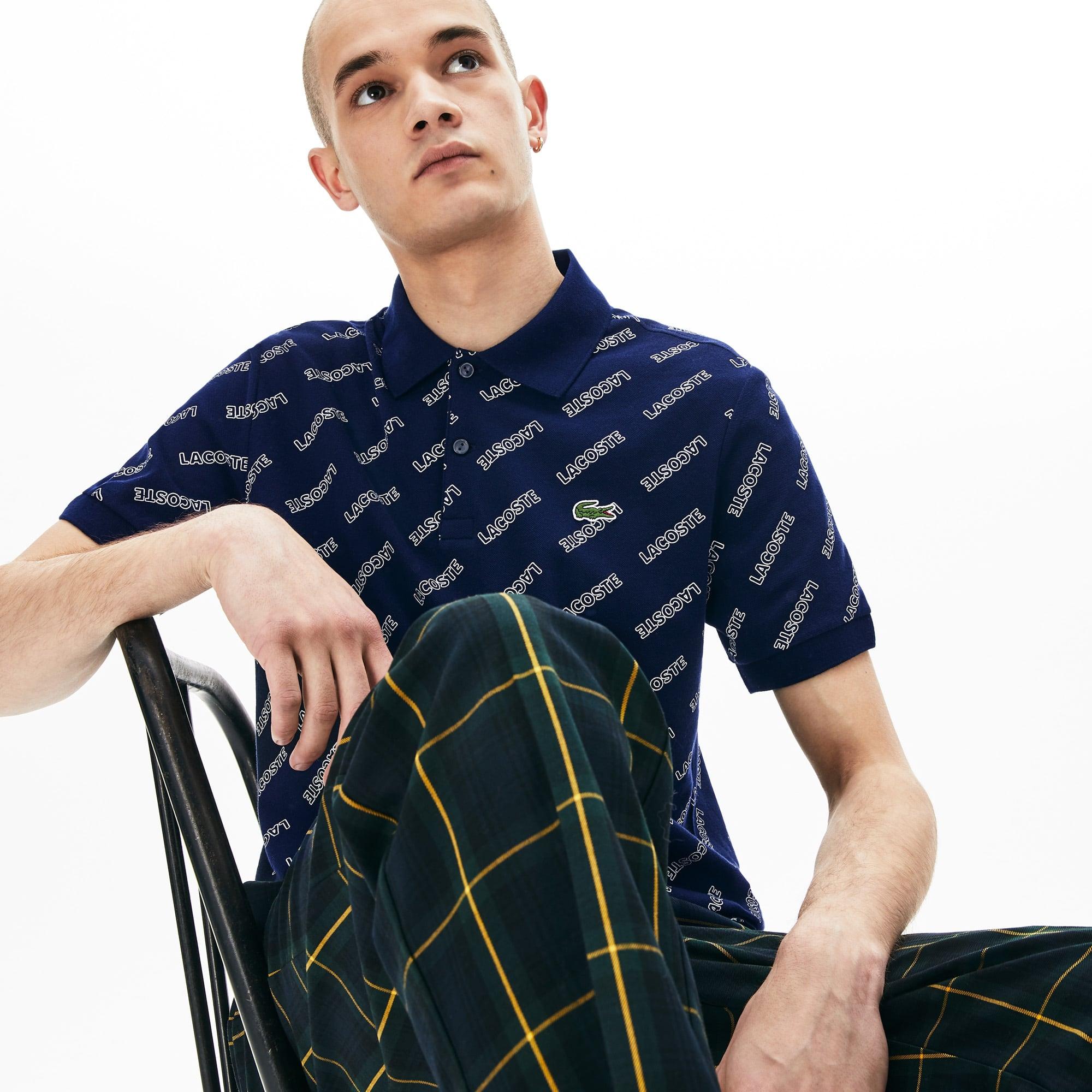 2f709dac Men's LIVE Slim Fit Signature Print Cotton Piqué Polo Shirt