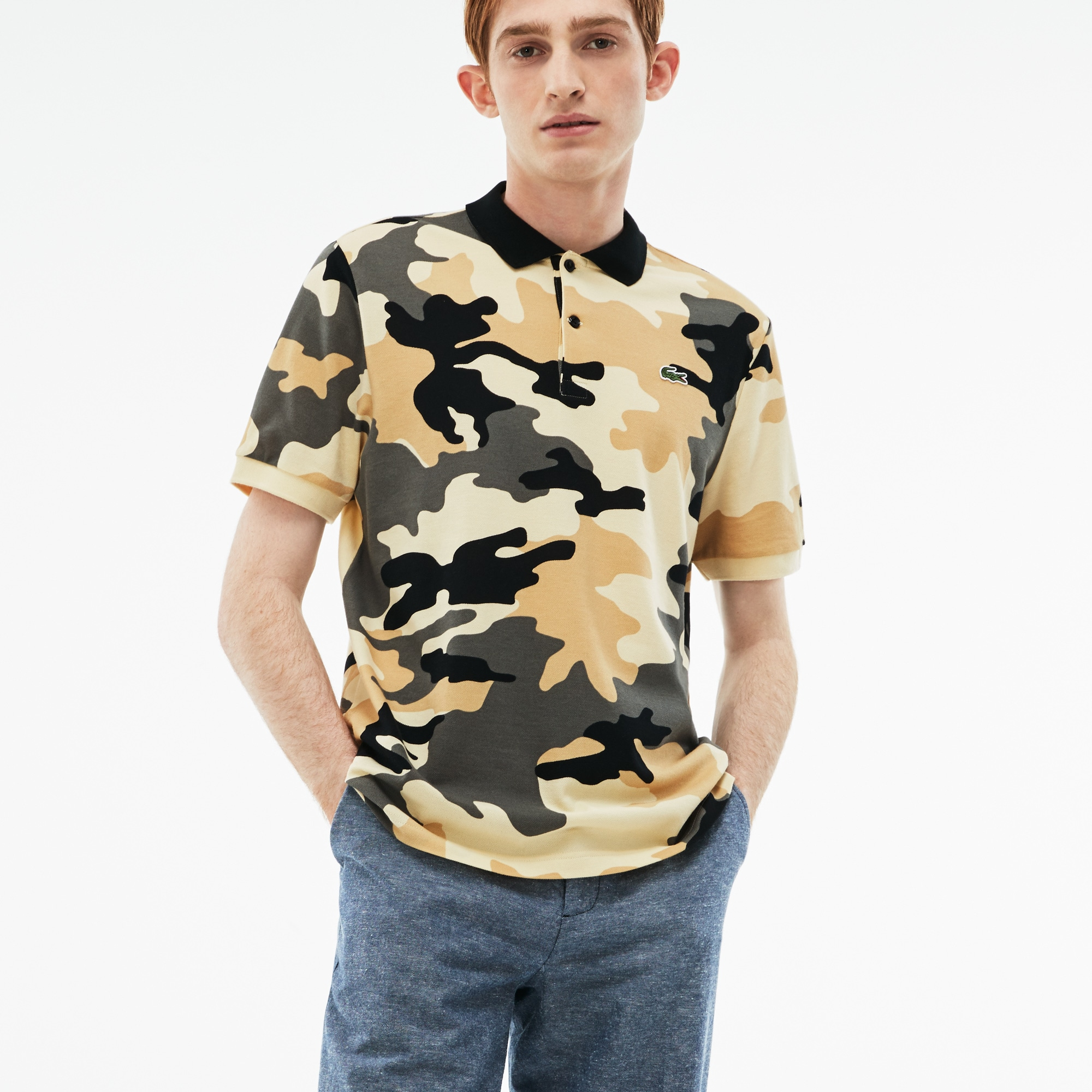 Men's LIVE Regular Fit Camouflage Piqué Polo