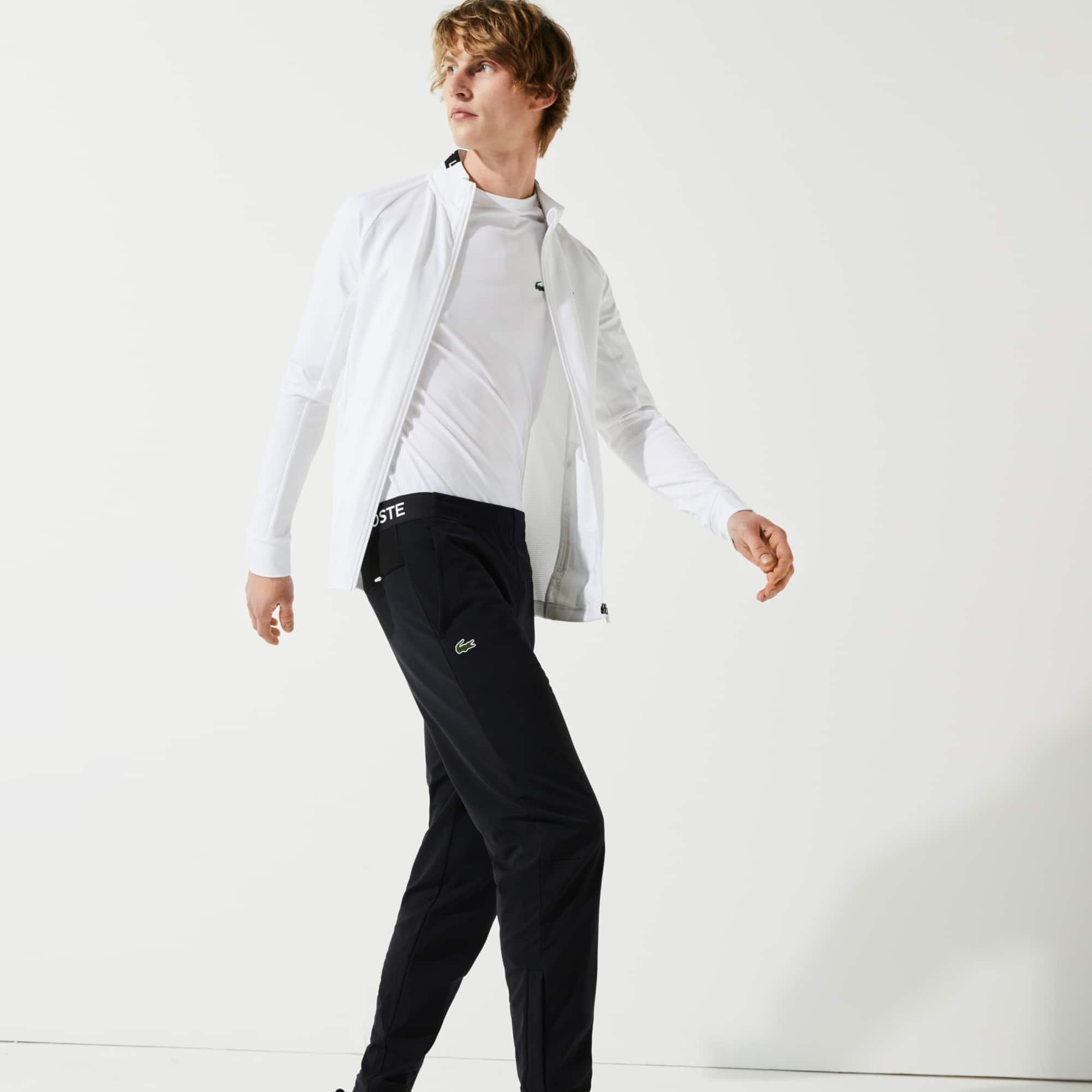 라코스테 Lacoste Men's SPORT Tracksuit Pants,Black / White / Black 6KJ