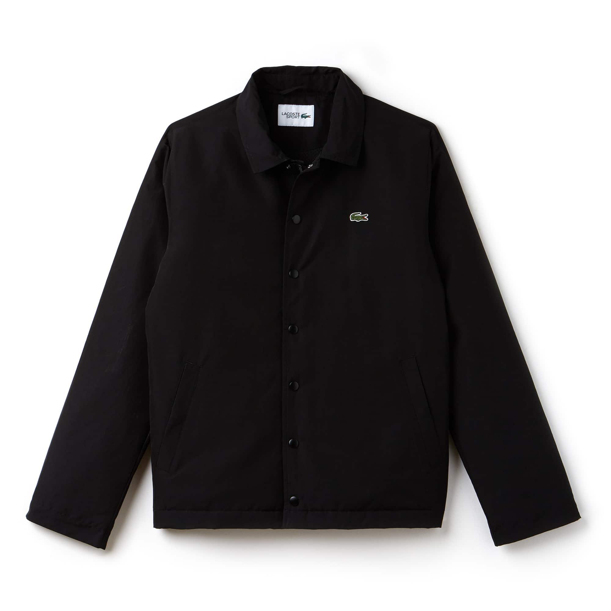 라코스테 Lacoste Mens SPORT Tennis Embroidered Stretch Zip Jacket,BLACK