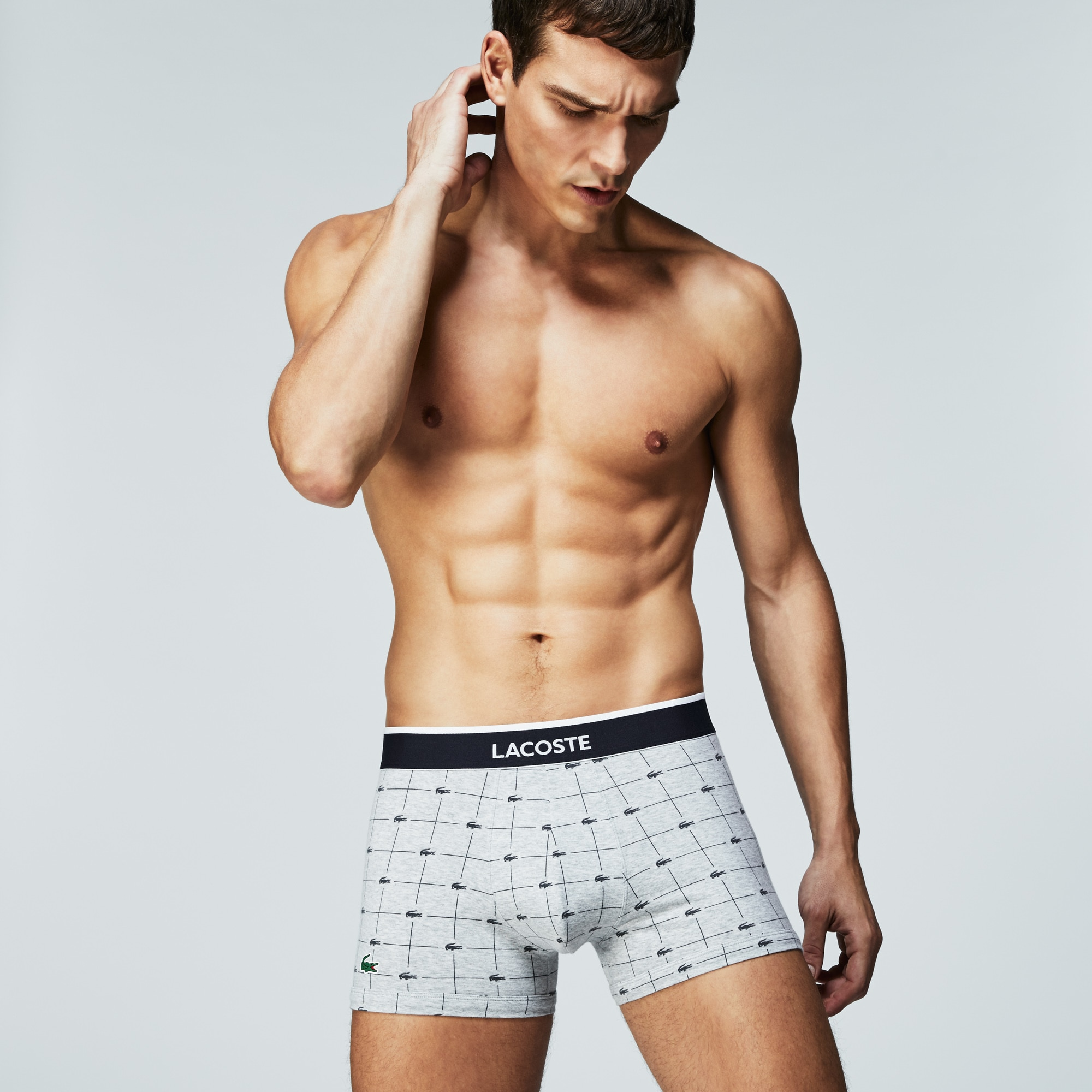 Pack Of 2 Colours Boxer Briefs With Crocodile Print