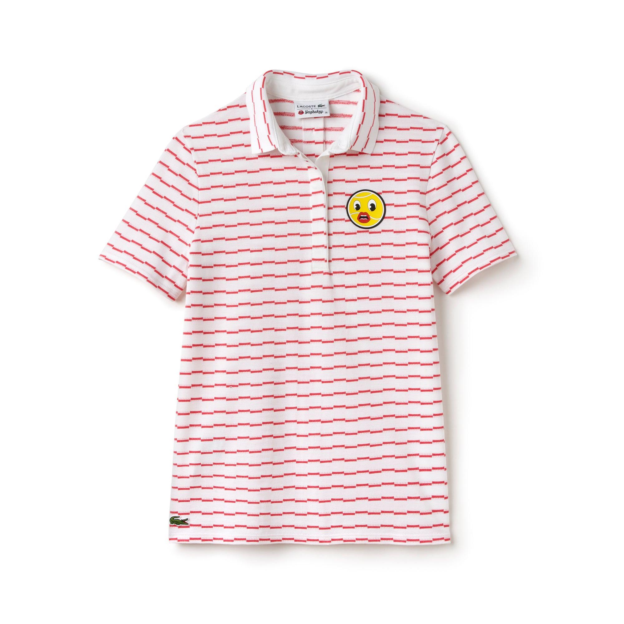 Women's Yazbukey Edition Offbeat Stripe Jacquard Polo Shirt