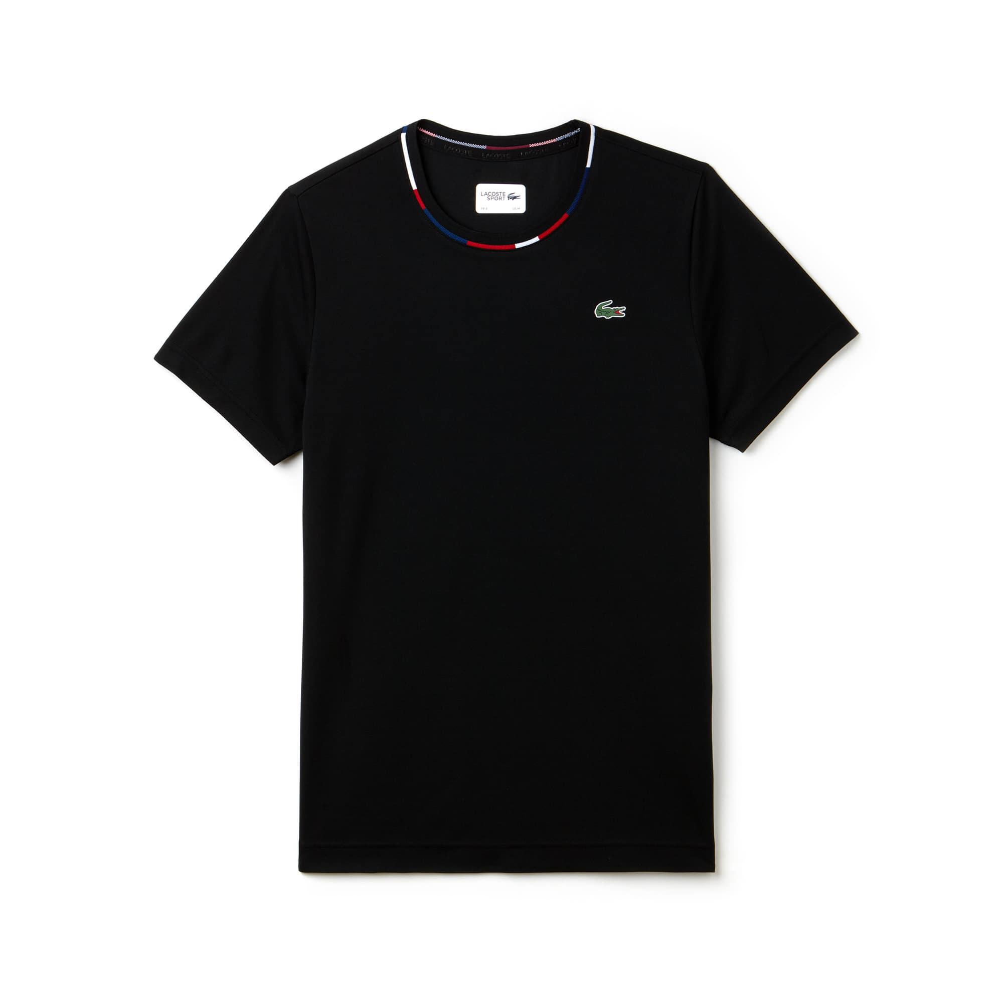 Men's Lacoste SPORT Jacquard Accents Tech Piqué Tennis T-shirt