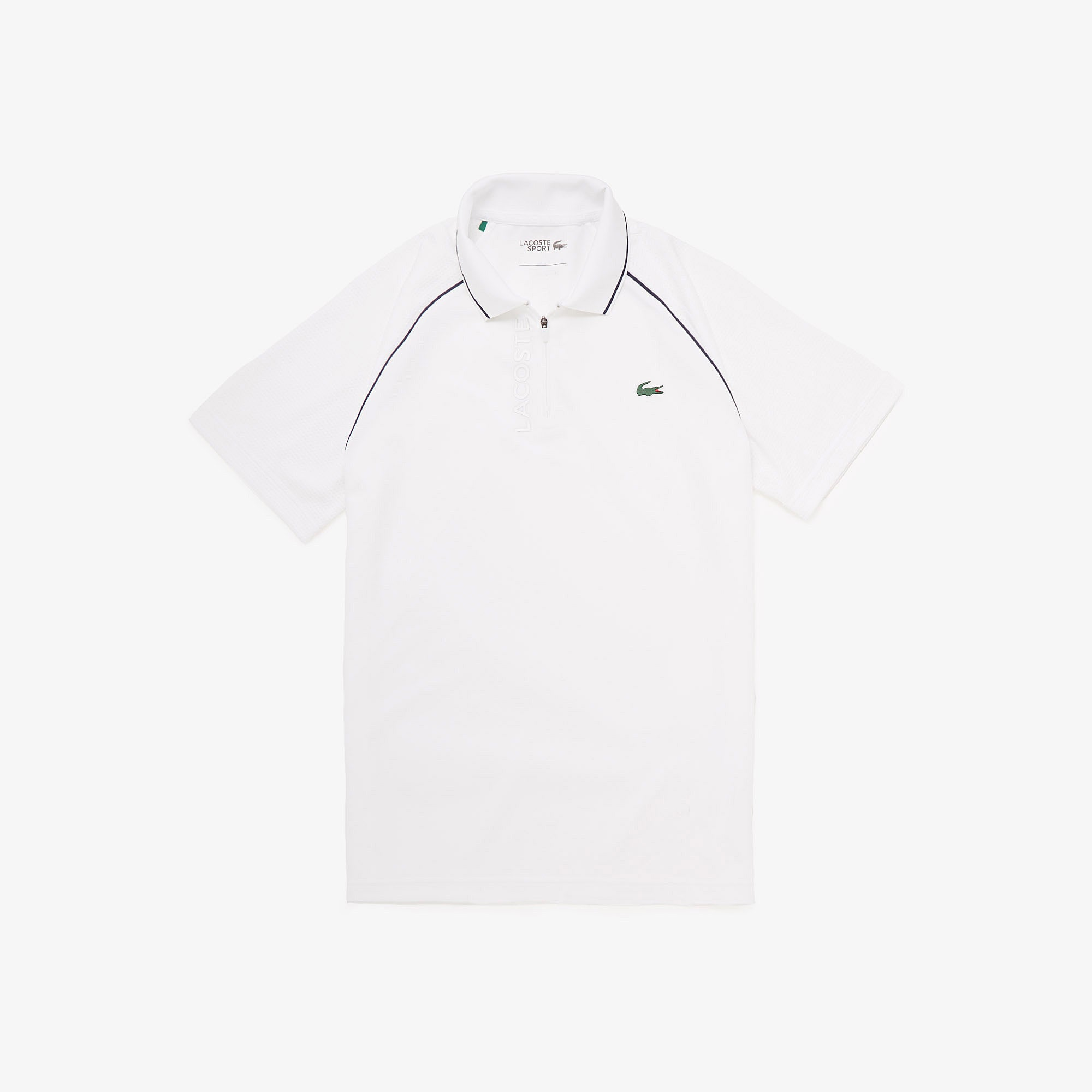 Lacoste Mens SPORT Breathable Zippered Golf Polo Shirt